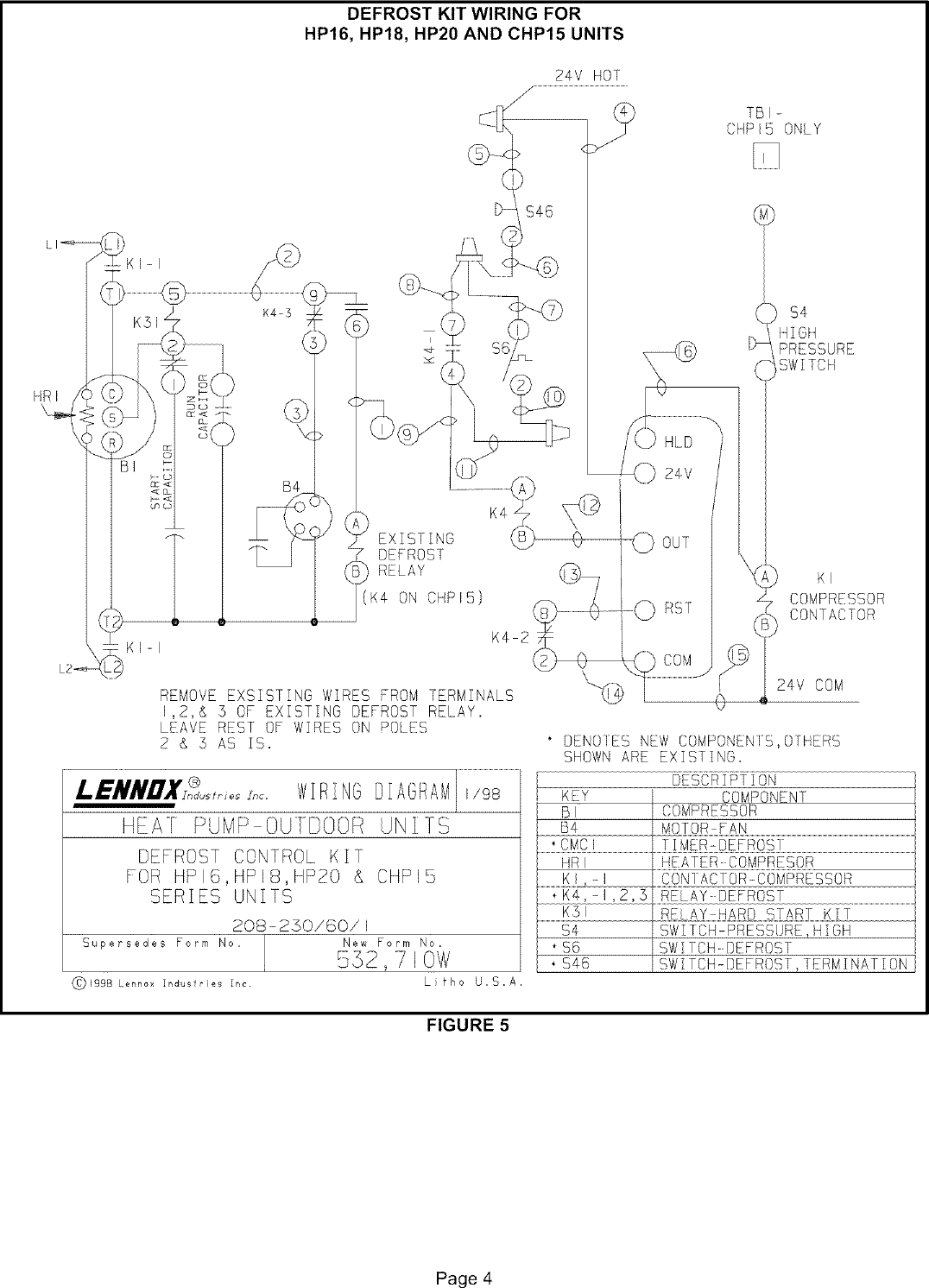 Lennox Controls And Hvac Accessories Manual L0806301 Hard Start Capacitor Wiring Diagrams Page 4 Of 8
