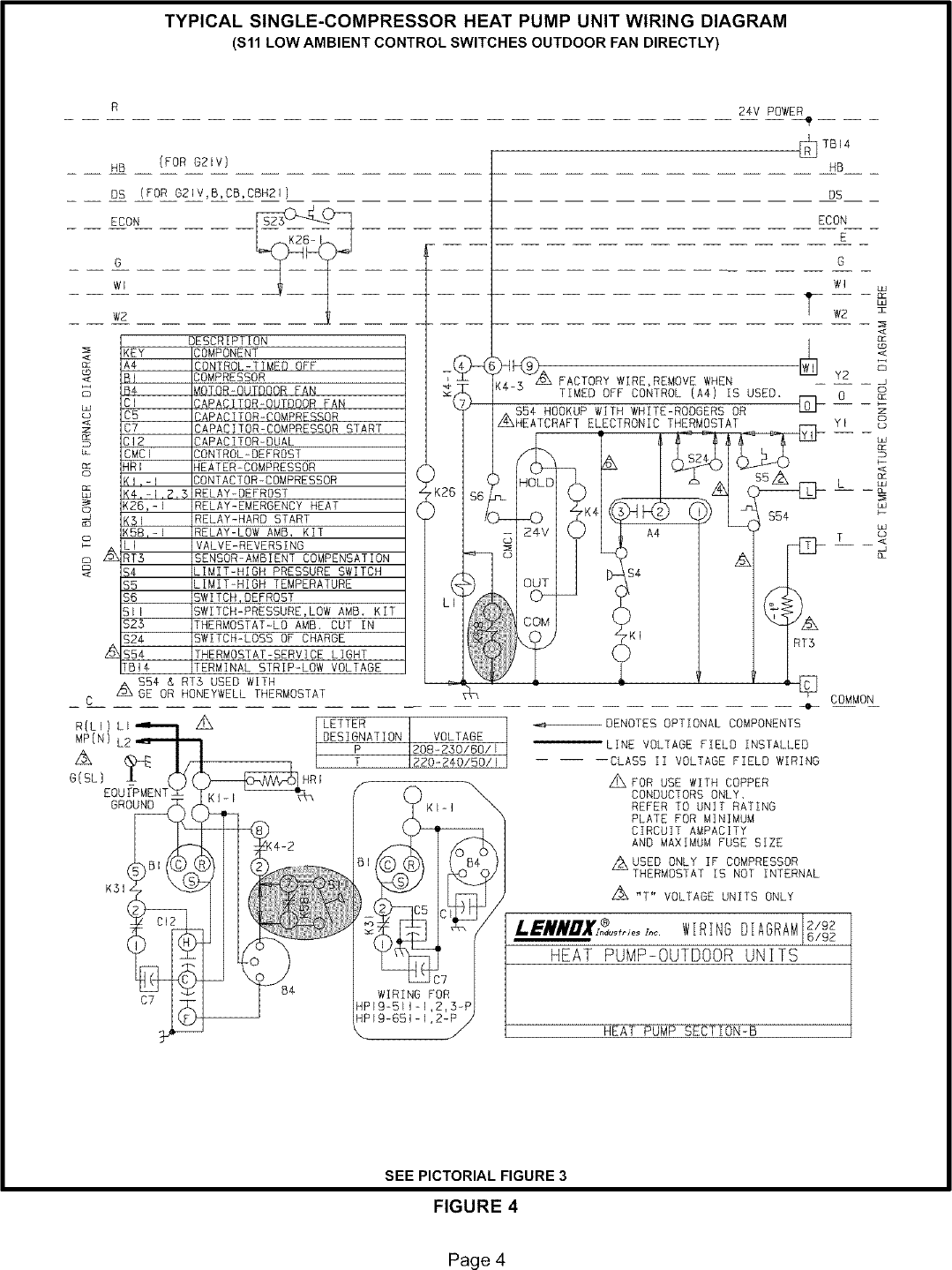 Lennox Controls And Hvac Accessories Manual L0806303 Drawing Key Page 4 Of 12