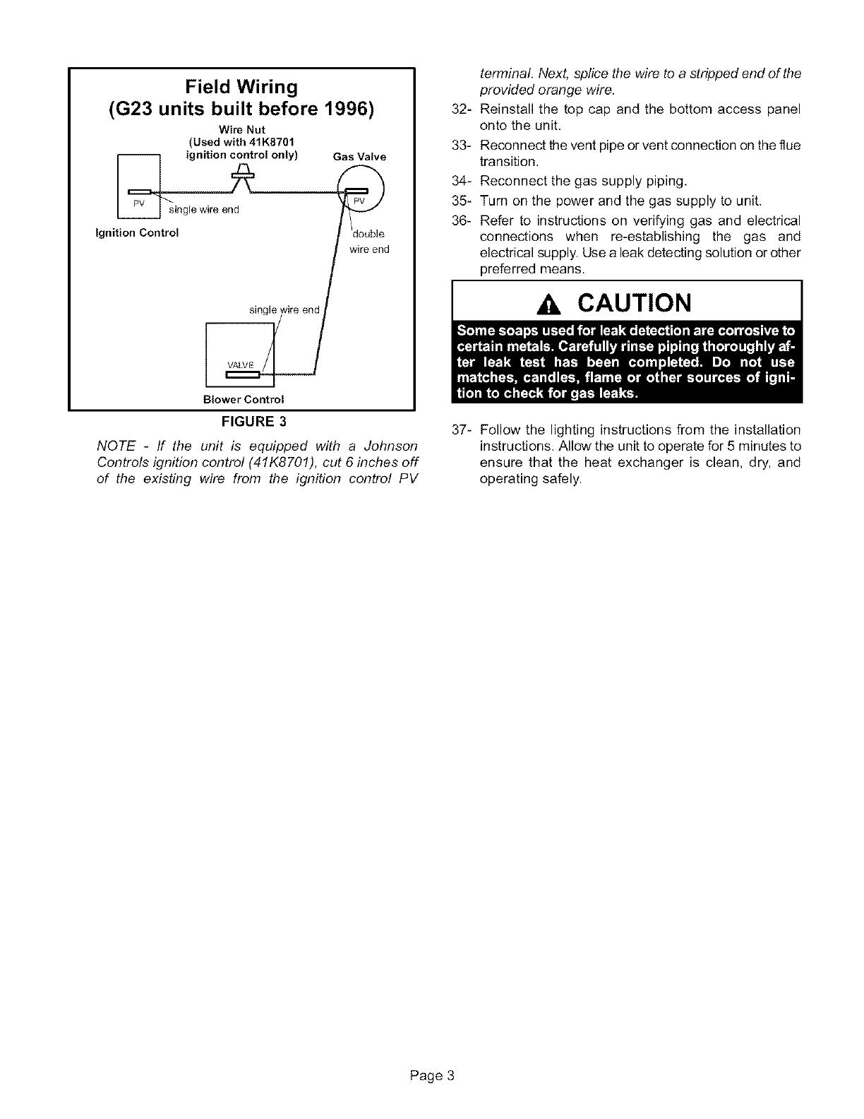 G23 Furnace Wiring Diagram Trusted Schematics Diagrams Gas Heat Lennox Heater Manual L0806911 Rh Usermanual Wiki Electric Old