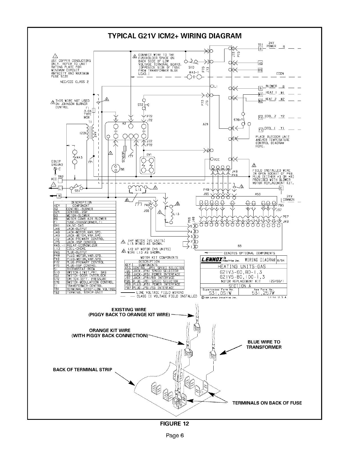 lennox furnace  heater  gas manual l08a6040