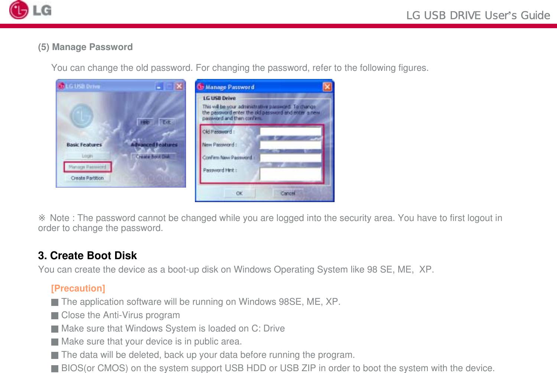 LG ELECTRONICS LGHUD LG USB Drive User Manual FCC CERTIFICATION B