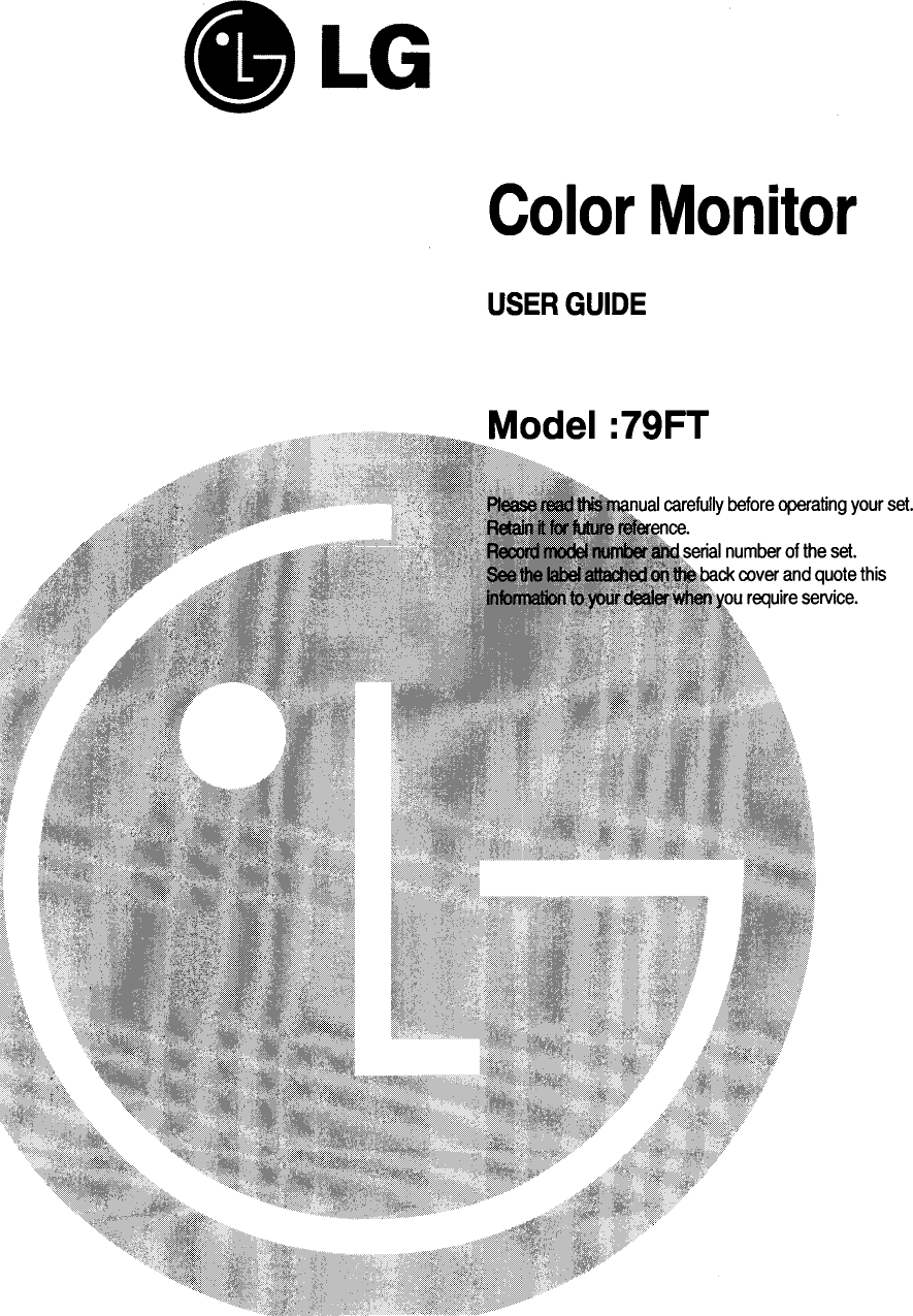 LG Electronics USA FB792 User Manual