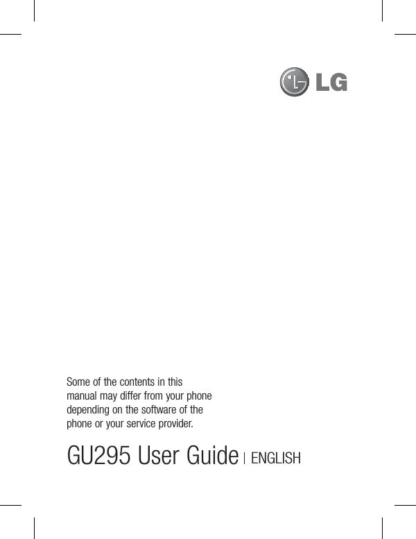 lg electronics usa gu295 cellular pcs wcdma gsm edge phone with rh usermanual wiki New Balance Manuals iPad Manual