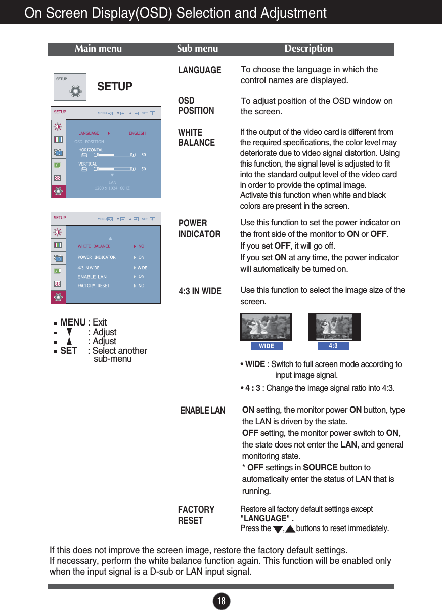 LG Electronics USA N194WAT LCD MONITOR User Manual G User s manual