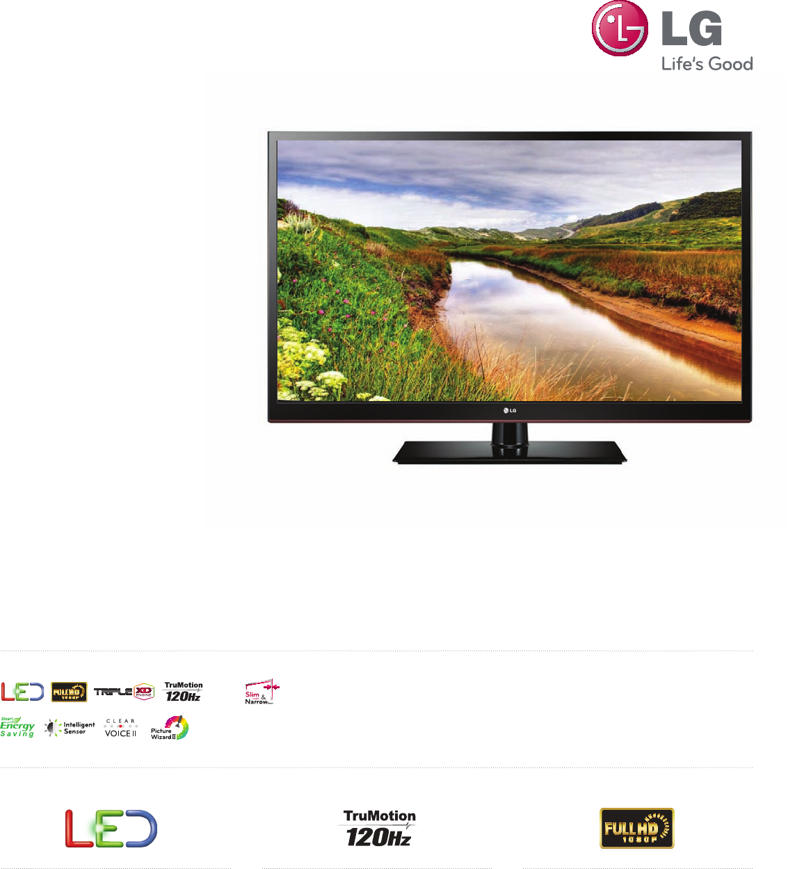Lg 55ls4500 User Manual Specification Spec Sheets 2012 He Lcd 1