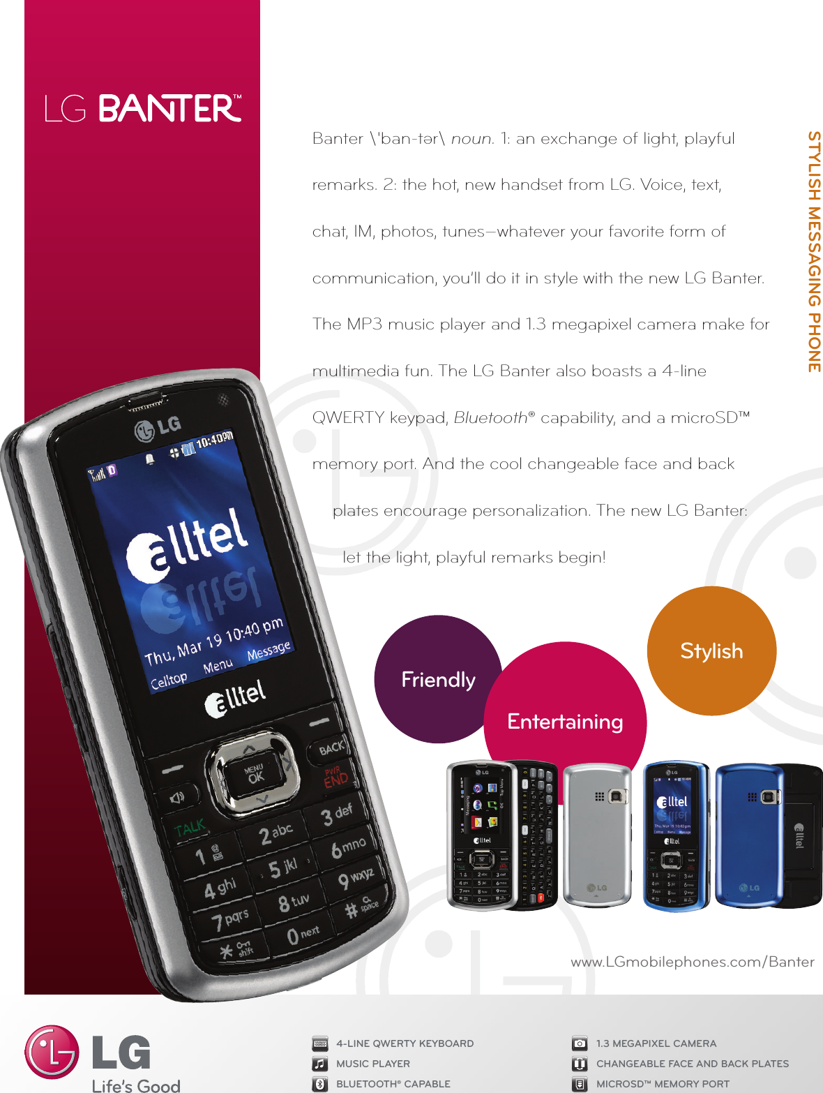 lg ax265 datasheet banter lg user manual data sheet banter ds rh usermanual wiki LG Cell Phone Operating Manual LG Cell Phone Operating Manual