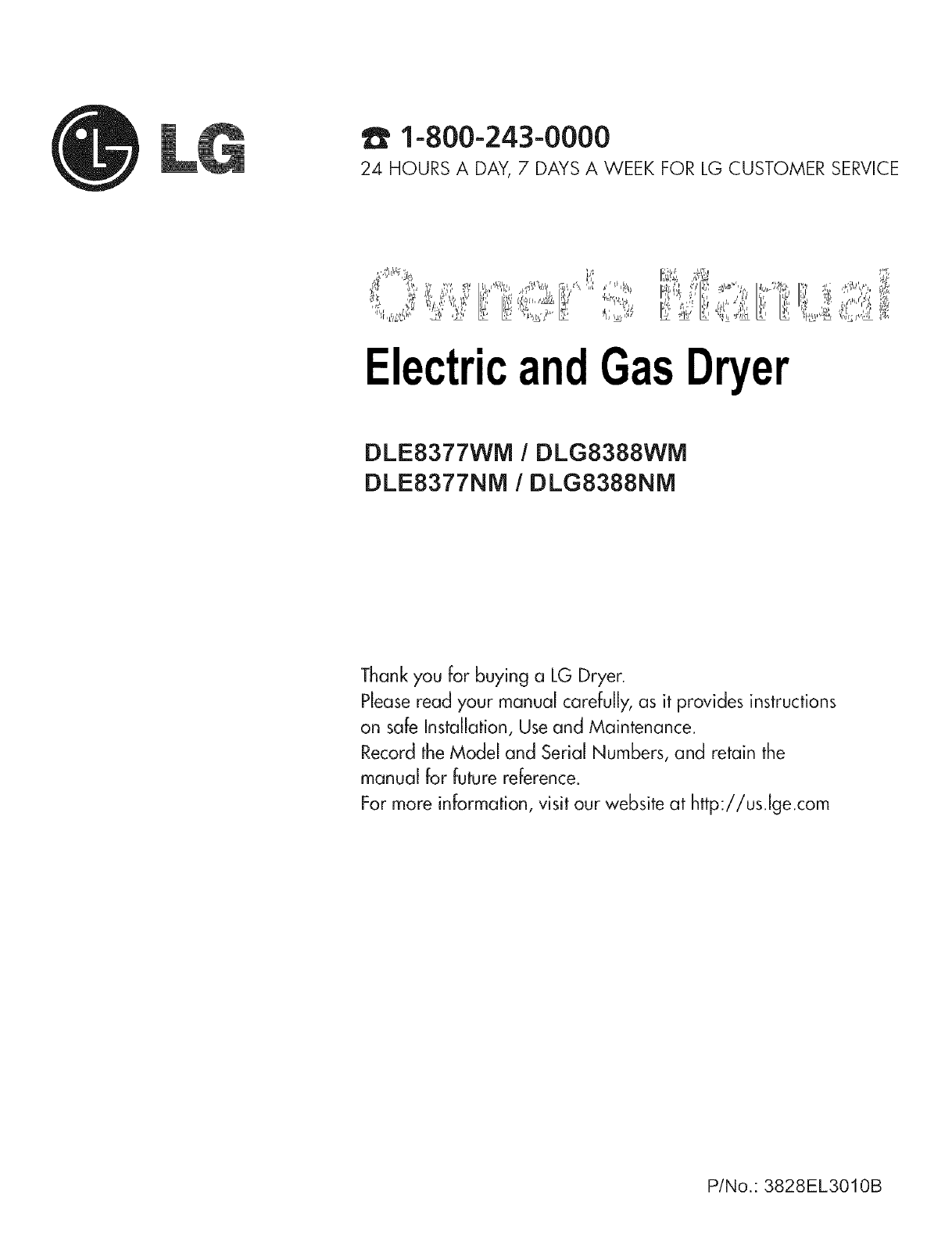 Lg Dle8377nm User Manual Dryer Manuals And Guides L0702358 Wiring Diagram