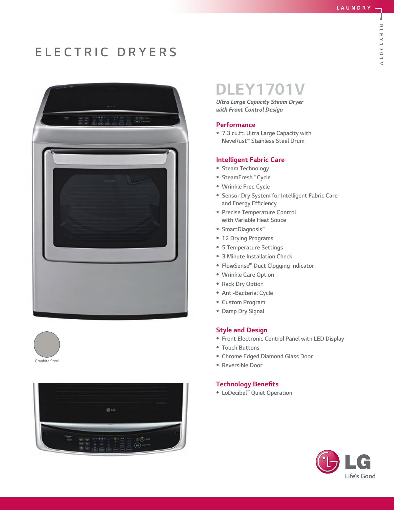 LG DLEY1701V DLEY1701V_front User Manual Specification ENG