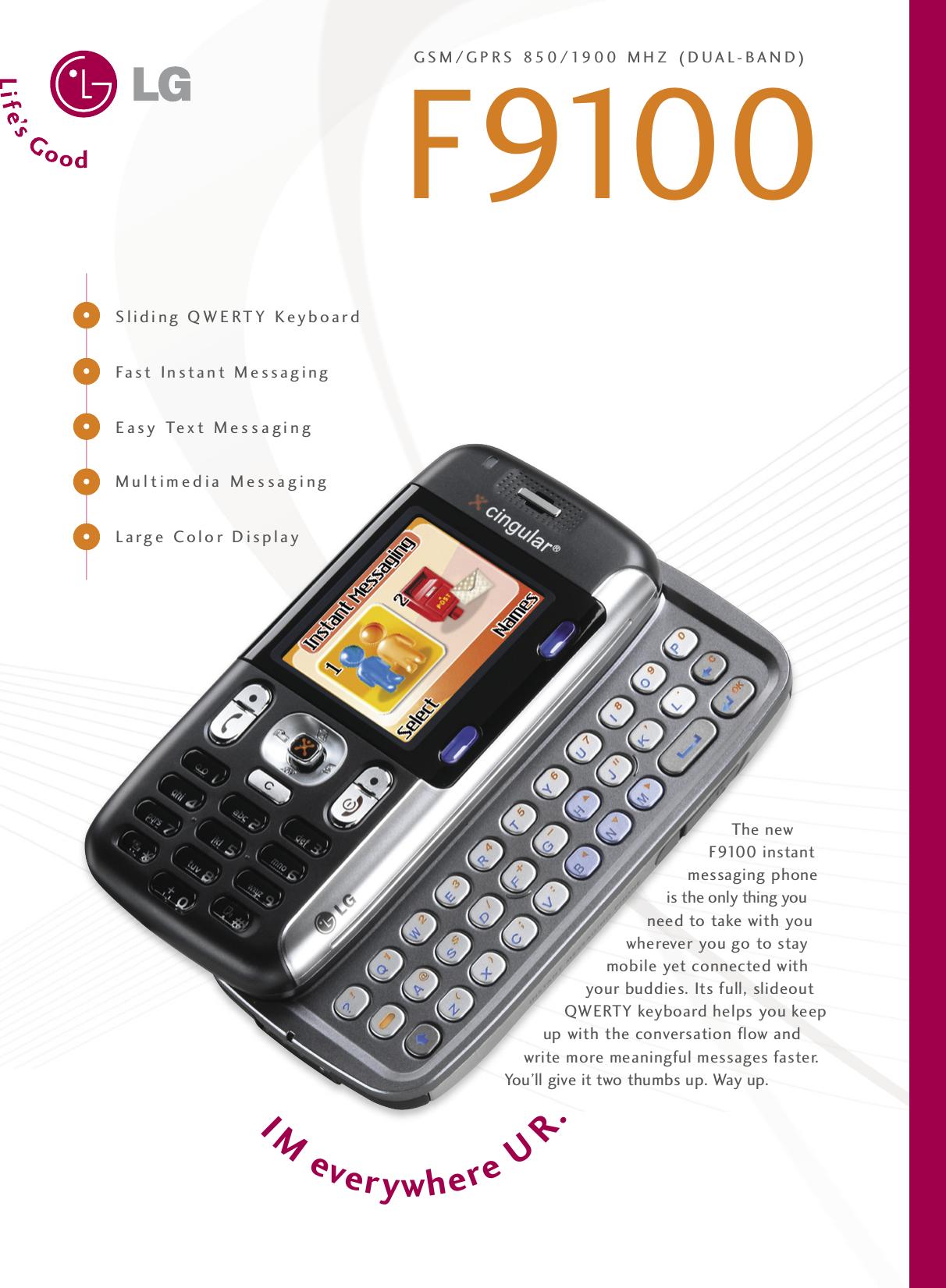 lg f9100 cingular datasheet user manual data sheet rh usermanual wiki LG C1200 LG C1500