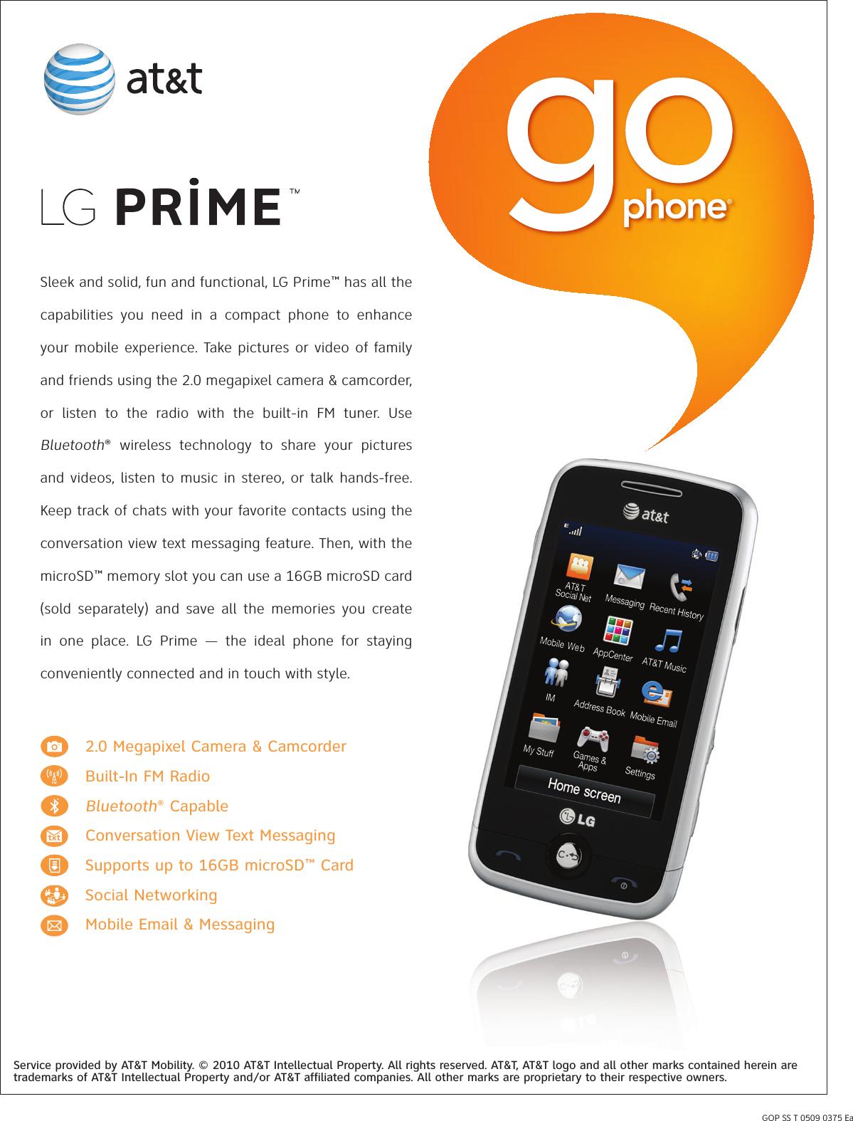 lg gs390 user manual data sheet prime datasheet rh usermanual wiki LG Optimus LG GS390 User Guide