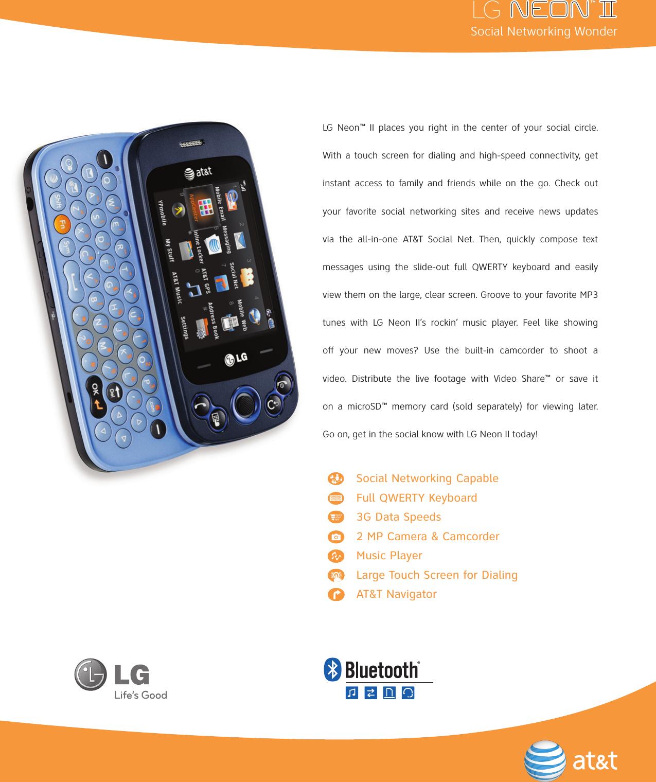 lg gw370 user manual data sheet neon ii datasheet rh usermanual wiki LG Owner's Manual LG Owner's Manual