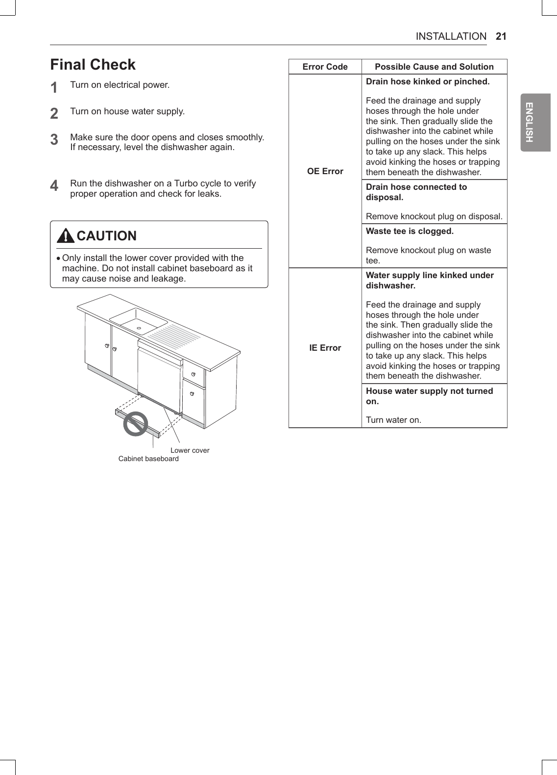 LG LDF5545ST/00 User Manual DISHWASHER Manuals And Guides