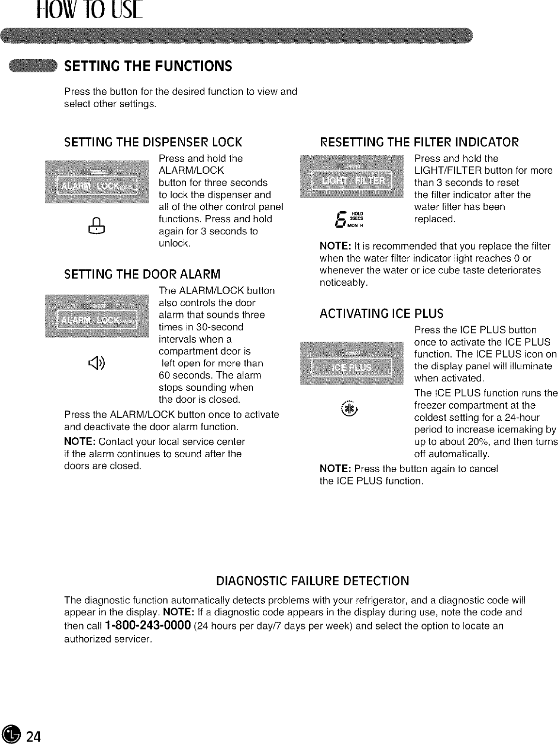 LG LFX25971SB/01 User Manual REFRIGERATOR Manuals And Guides