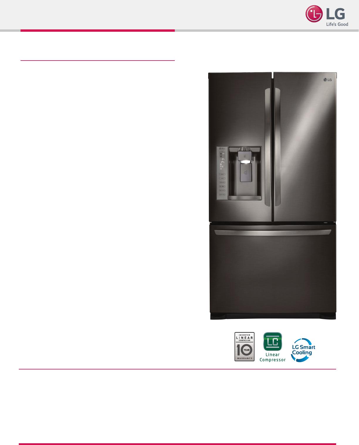 LG LFX25973D User Manual Specification Spec Sheet