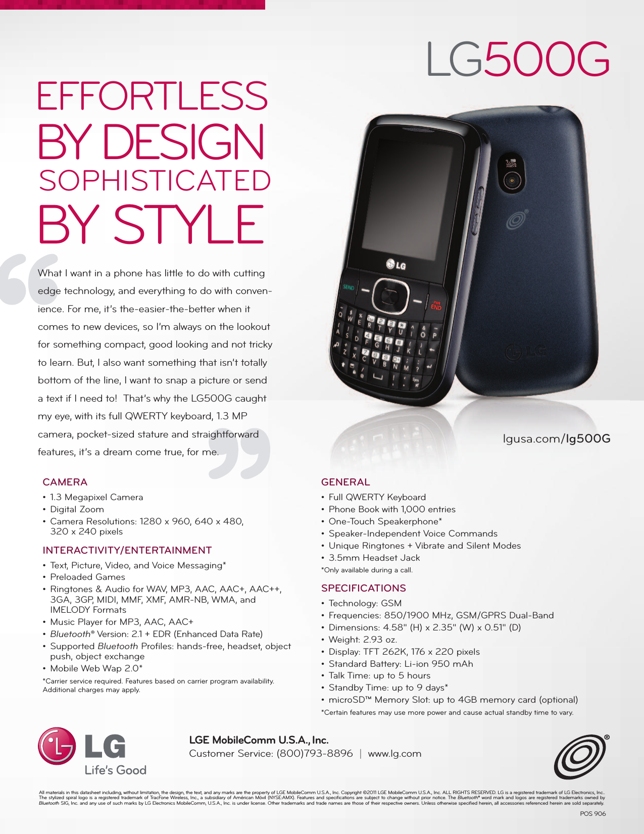 lg lg500g datasheet ax310 lg user manual data sheet datasheet rh usermanual wiki LG Cell Phone Operating Manual AT&T LG User Guide