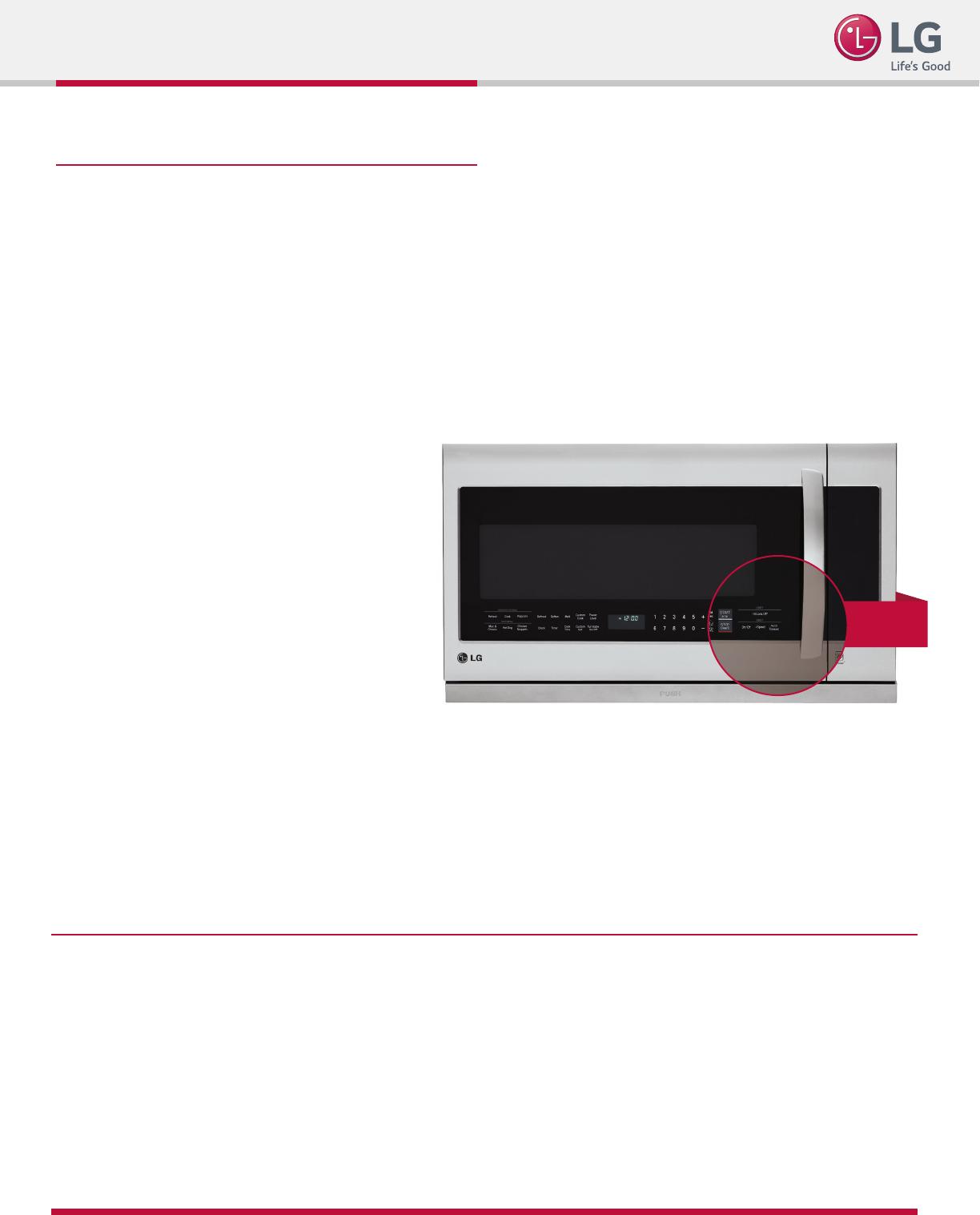 LG LMHM2237BD User Manual Specification LMHM2237 Spec Sheet