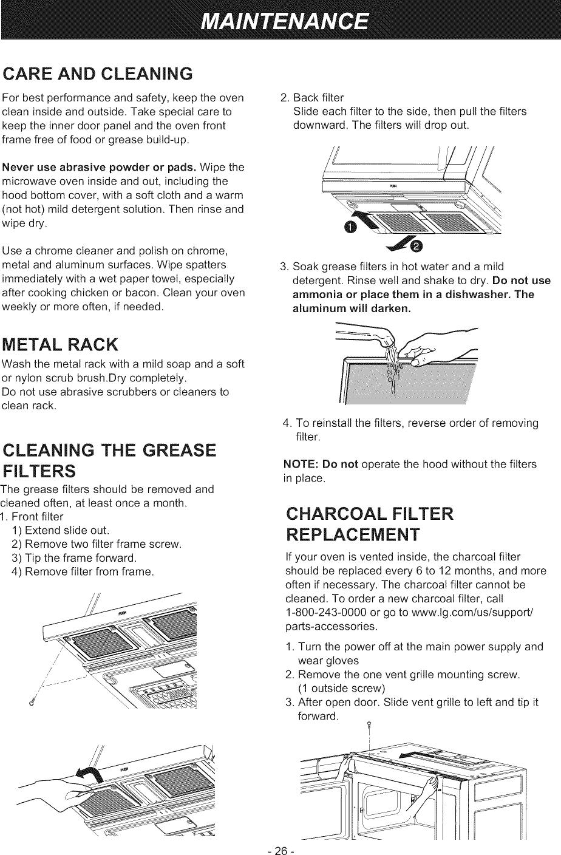 LG LMHM2237BD/00 User Manual MICROWAVE/HOOD COMBO Manuals