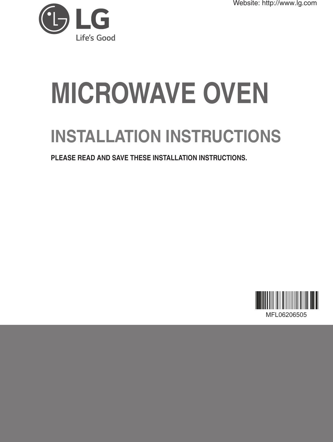 LG LMHM2237BD/01 3828W5U0377 User Manual MICROWAVE/HOOD