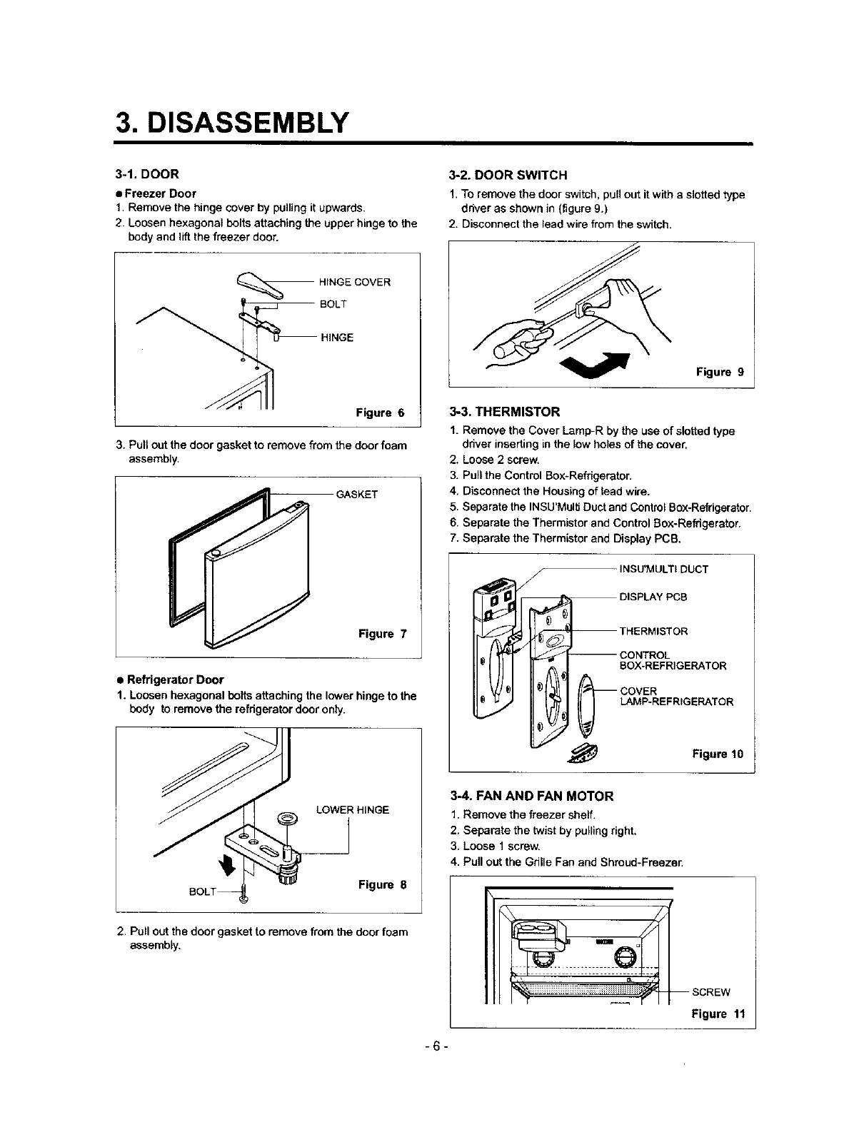 Lg Lrtp0931w User Manual Top Mount Manuals And Guides L0301146 Low Temperature Defrost Timer Wiring Diagram Box 3 Disassembly