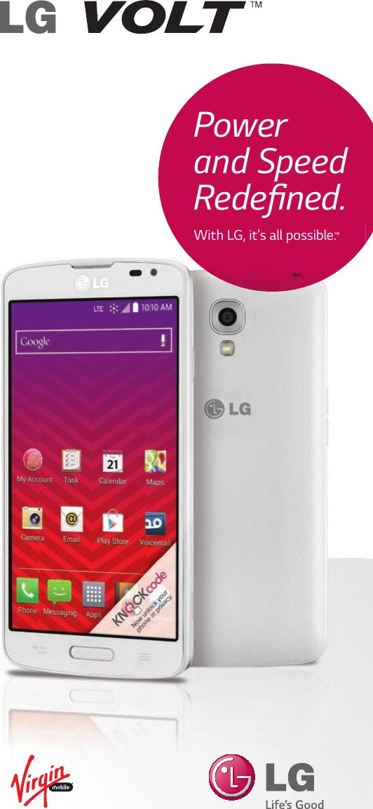 LG LS740 Boost Mobile User Manual Update Virgin Volt Brochure