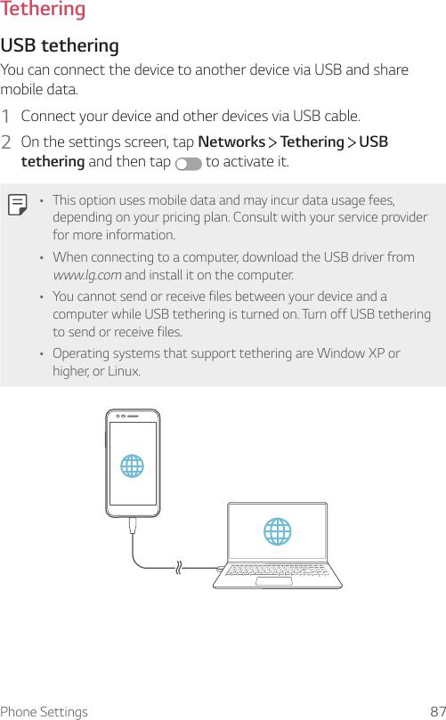 LG MP260 MetroPCS User Manual Owner's MTP UG Web EN V1 1 170901