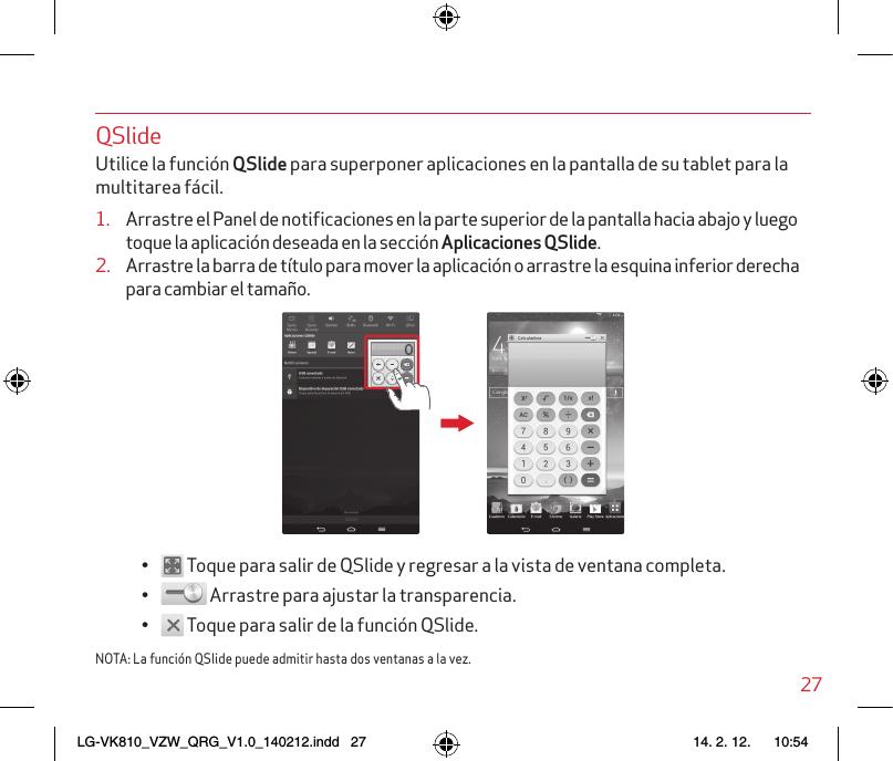 LG VK810 VK810_VZW_QRG_V1 0_140212 User Manual Quick Start