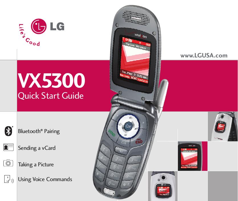 lg vx5300 vx5300 qsg user manual quick start guide qsg rh usermanual wiki LG VX8100 LG C2000