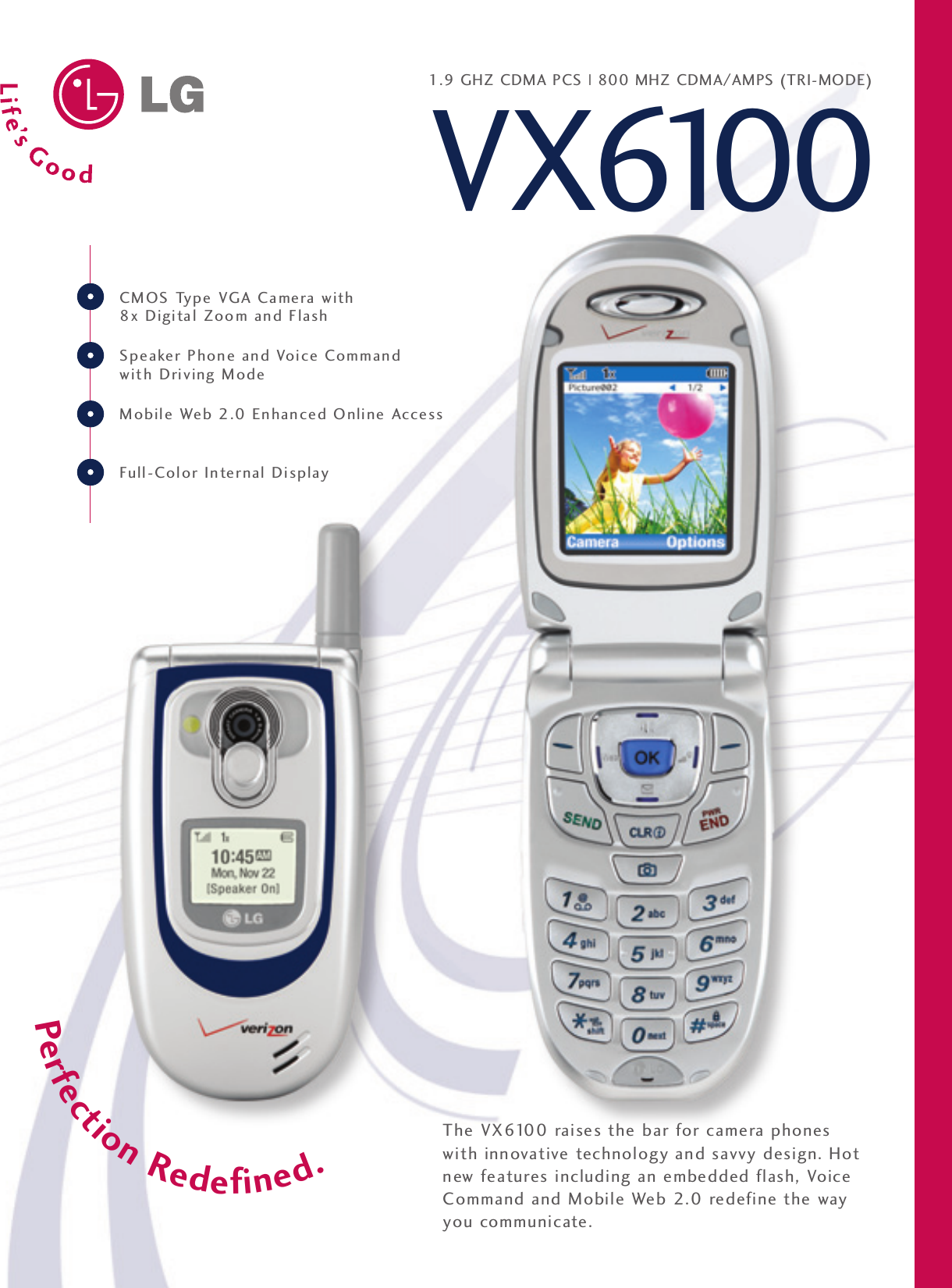 lg vx6100 user manual data sheet vx6100 datasheet rh usermanual wiki LG VX5500 LG VX7000