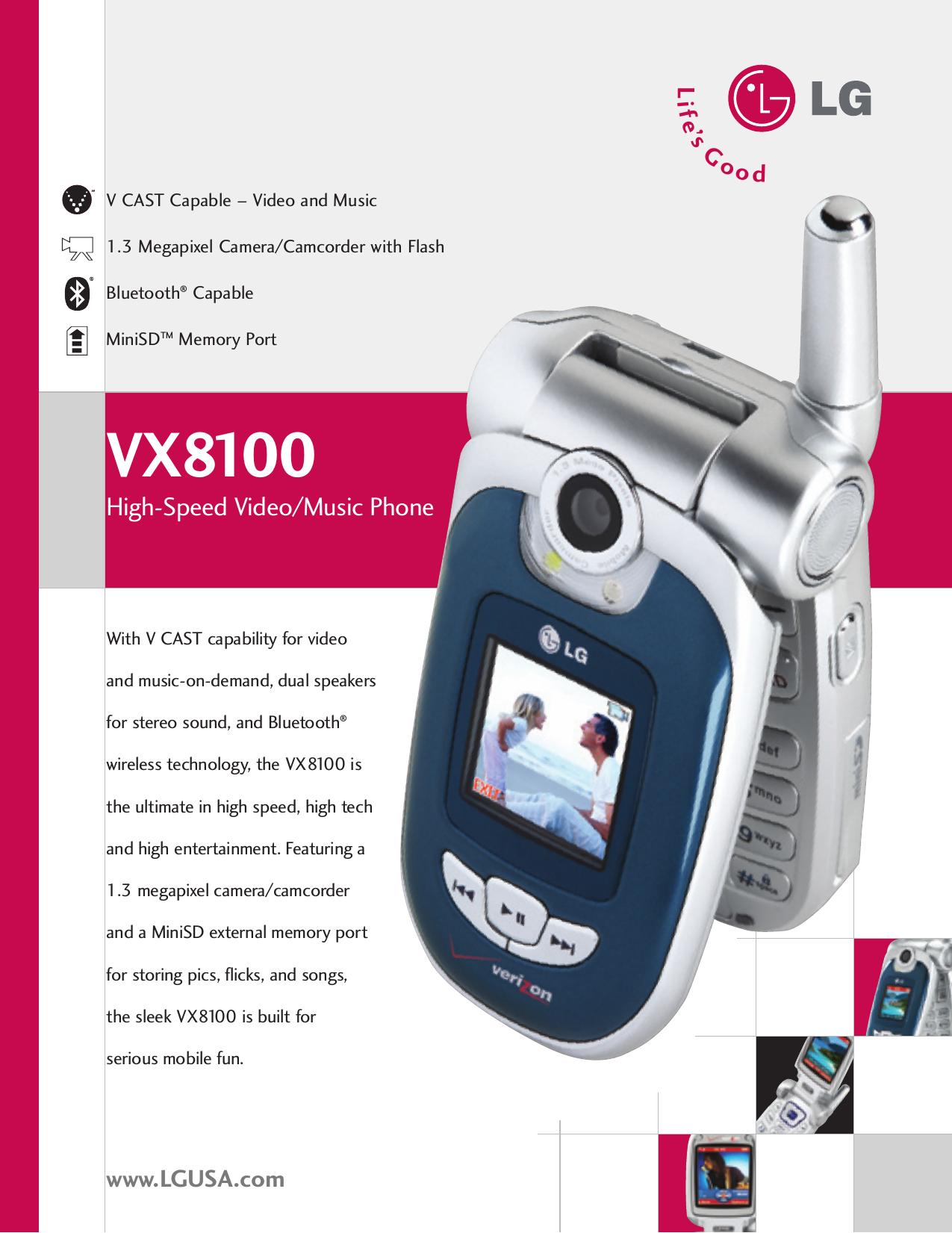 lg vx8100 vx8100 datasheet 06 user manual data sheet datasheet mod rh usermanual wiki LG 8100 Manual LG Vx82100