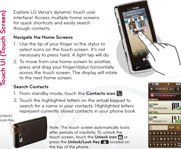 LG VX9600 User Manual Quick Start Guide QSG