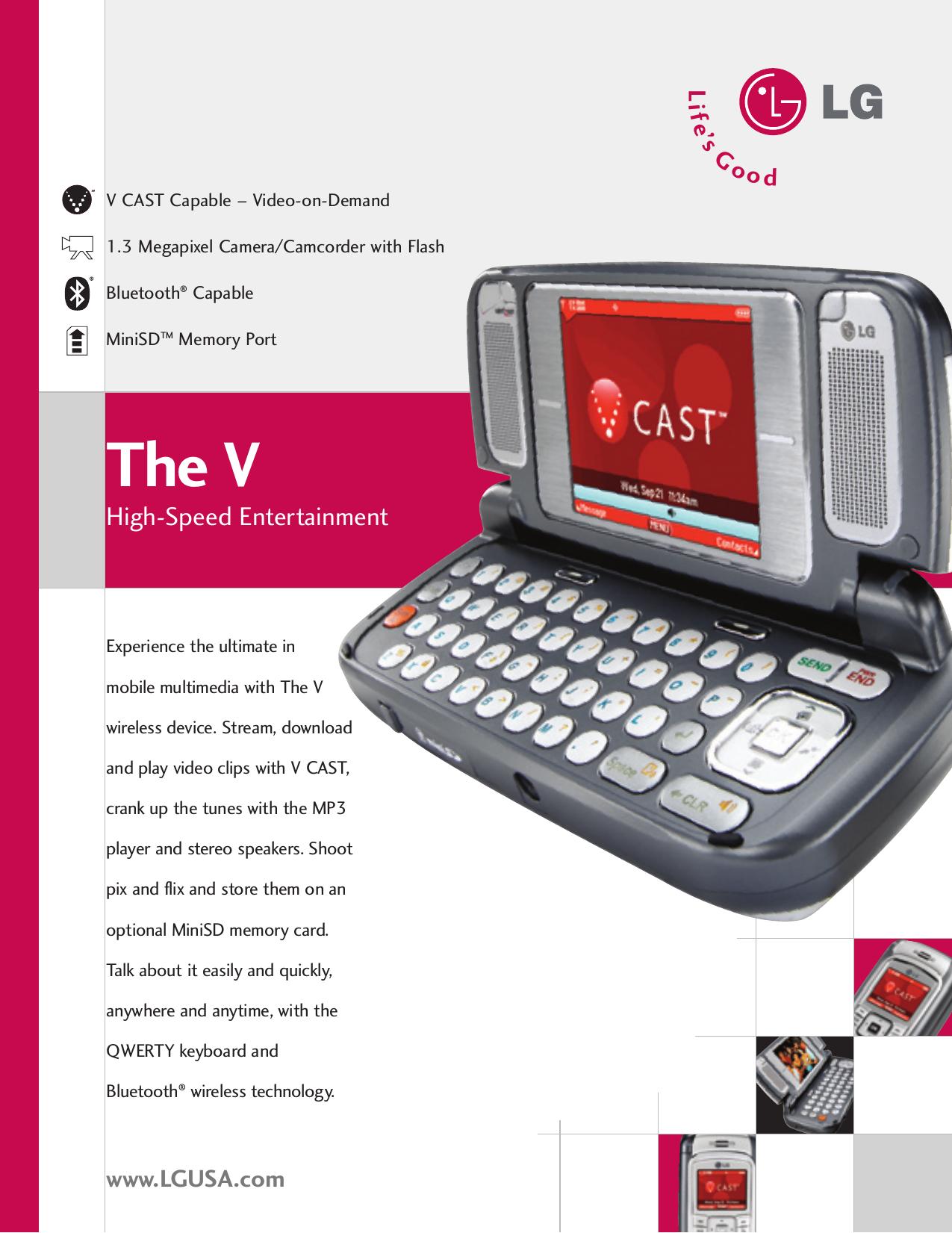 lg vx9800 v datasheet user manual data sheet the v datasheet rh usermanual wiki LG 9 800 Years Made LG VX