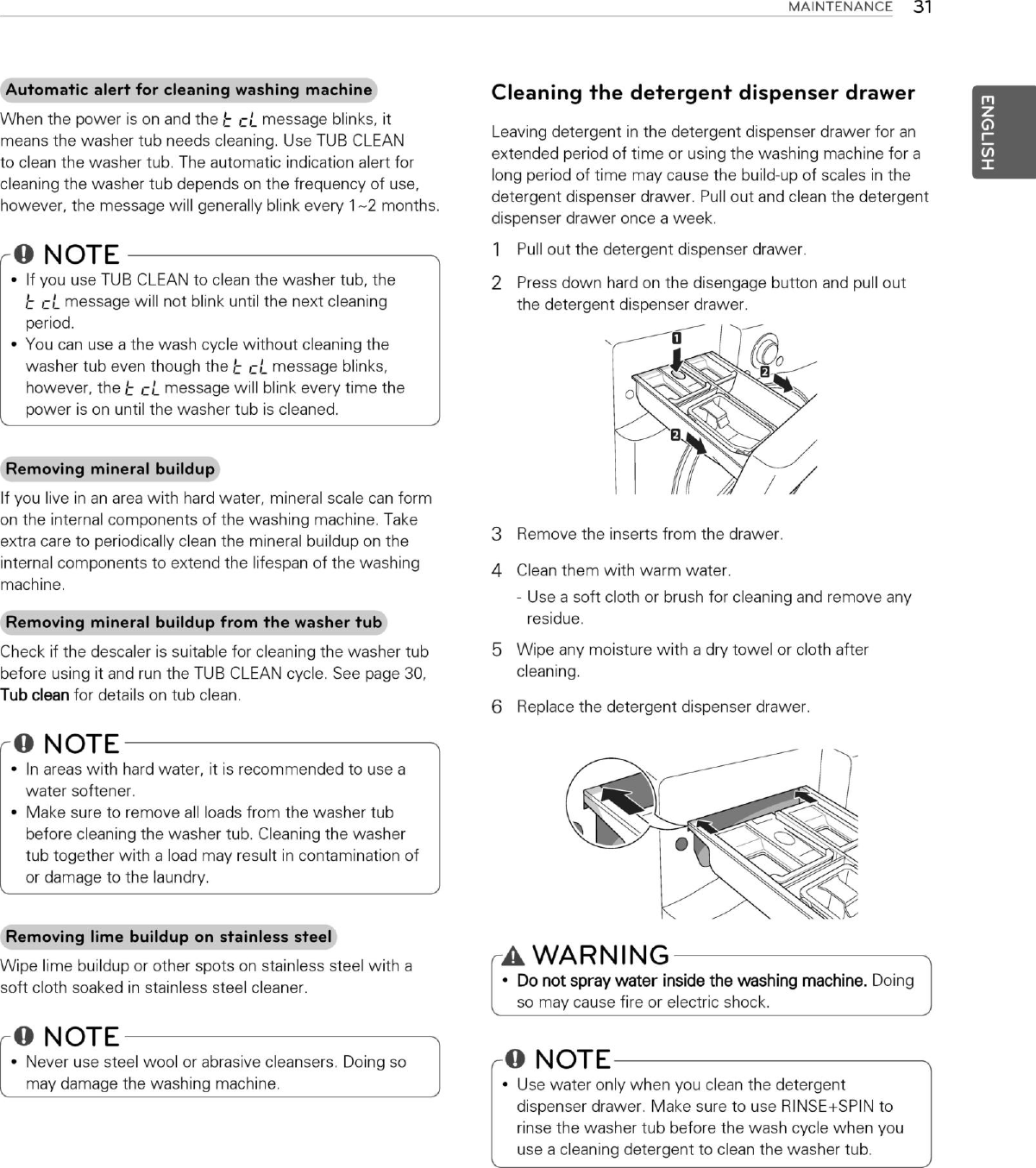 LG WM3070HRA User Manual Owner's MFL67449493 Eng