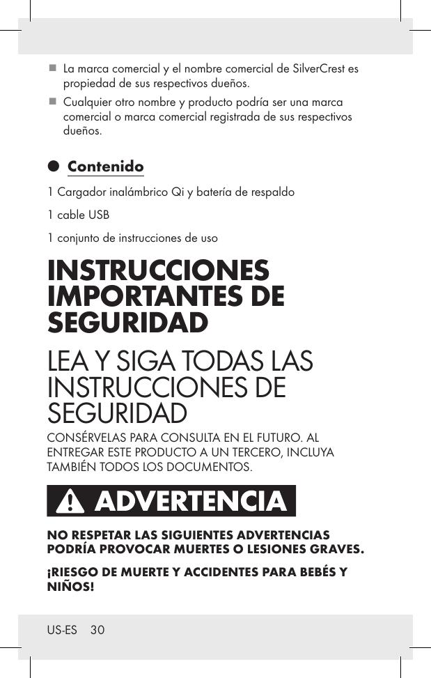 Qi Wireless Bank User Power Lidl Hg4127 Us Charging Manual lcF1TKJ3
