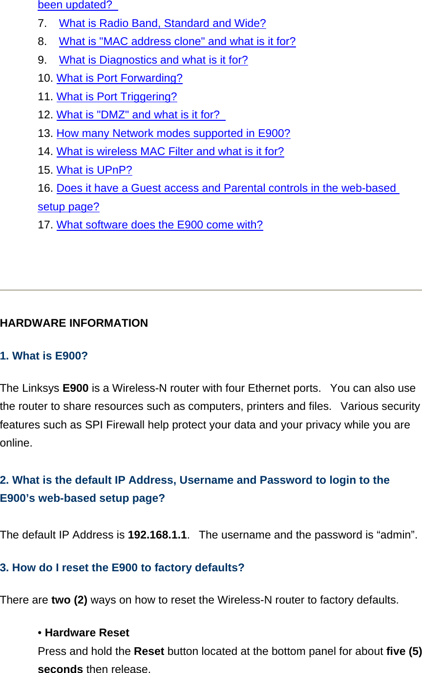 LINKSYS E900 Wireless-N Router User Manual User Guide Linksys E Series