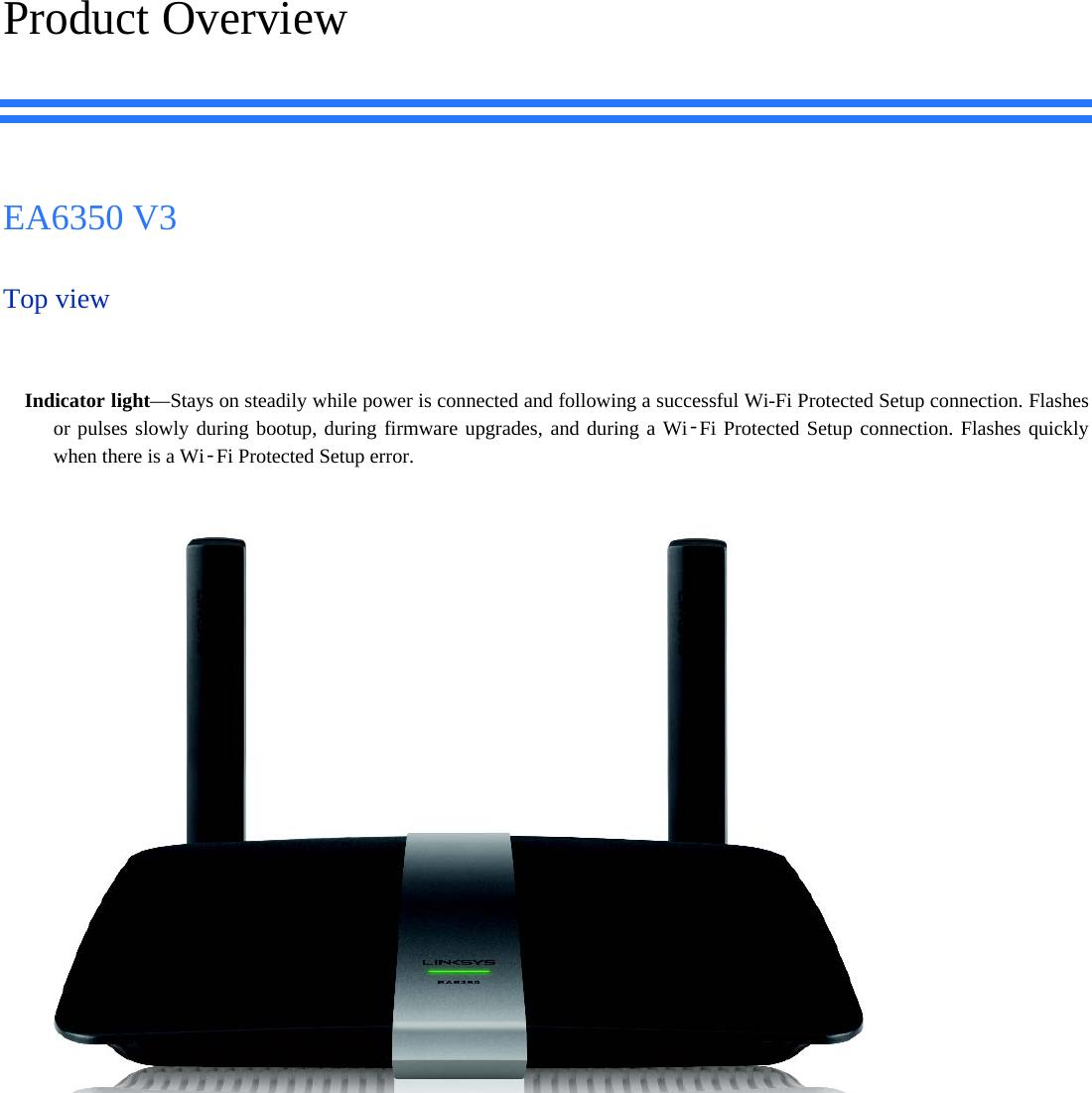 LINKSYS EA6350V3 Linksys Smart Wi-Fi Router AC1200 User Manual