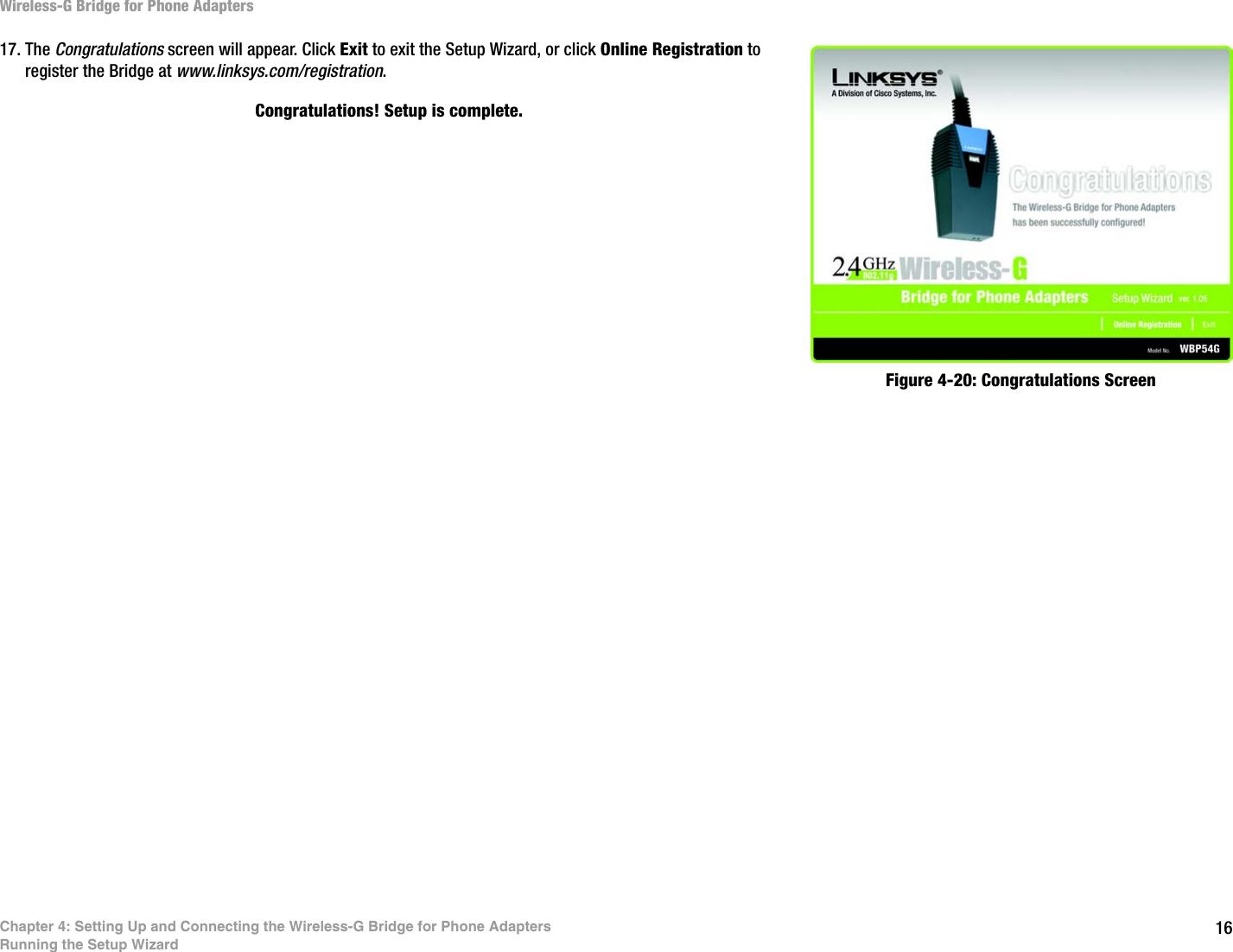 LINKSYS WBP54GV2 Wireless-G Bridge for Phone Adapters User