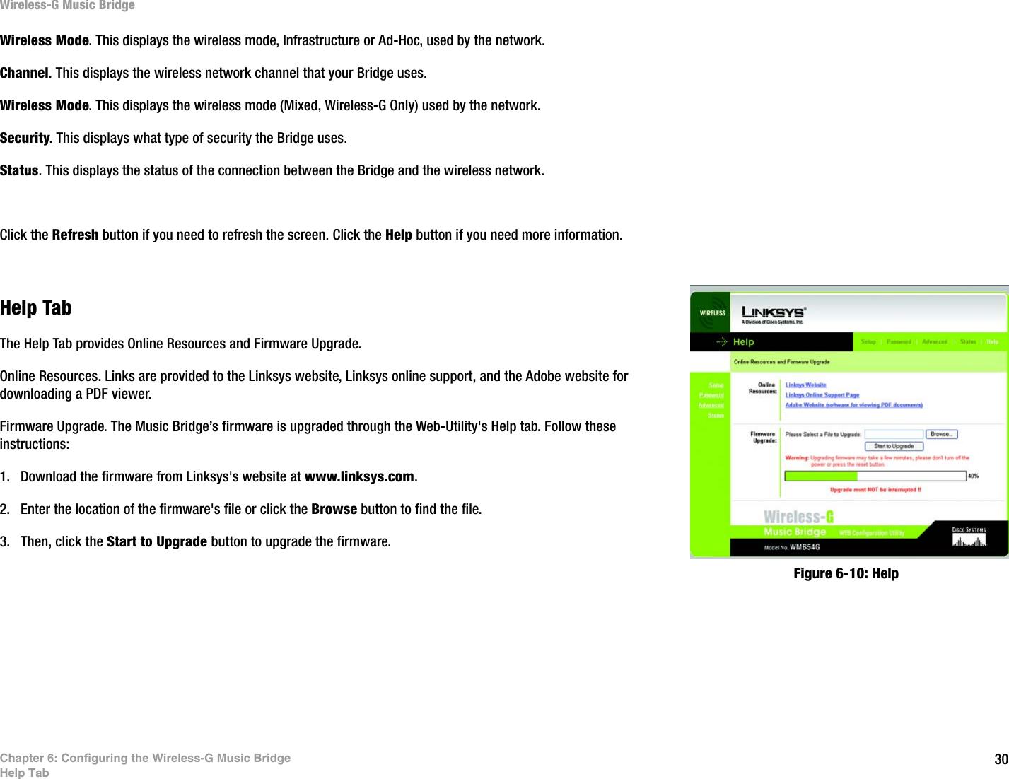 LINKSYS WMB54G Wireless-G Music Bridge User Manual Book