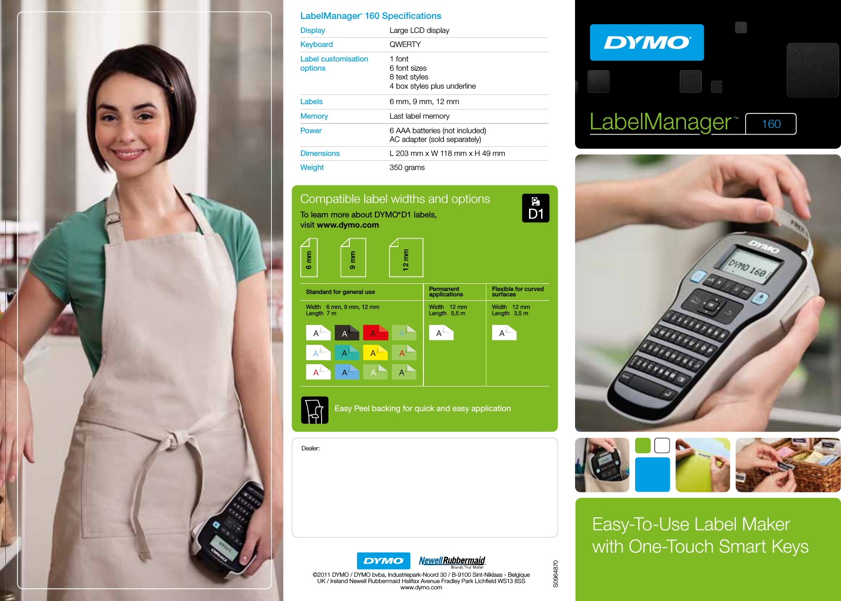 LabelZone Dymo Labelmanager 160 Brochure User Manual Label