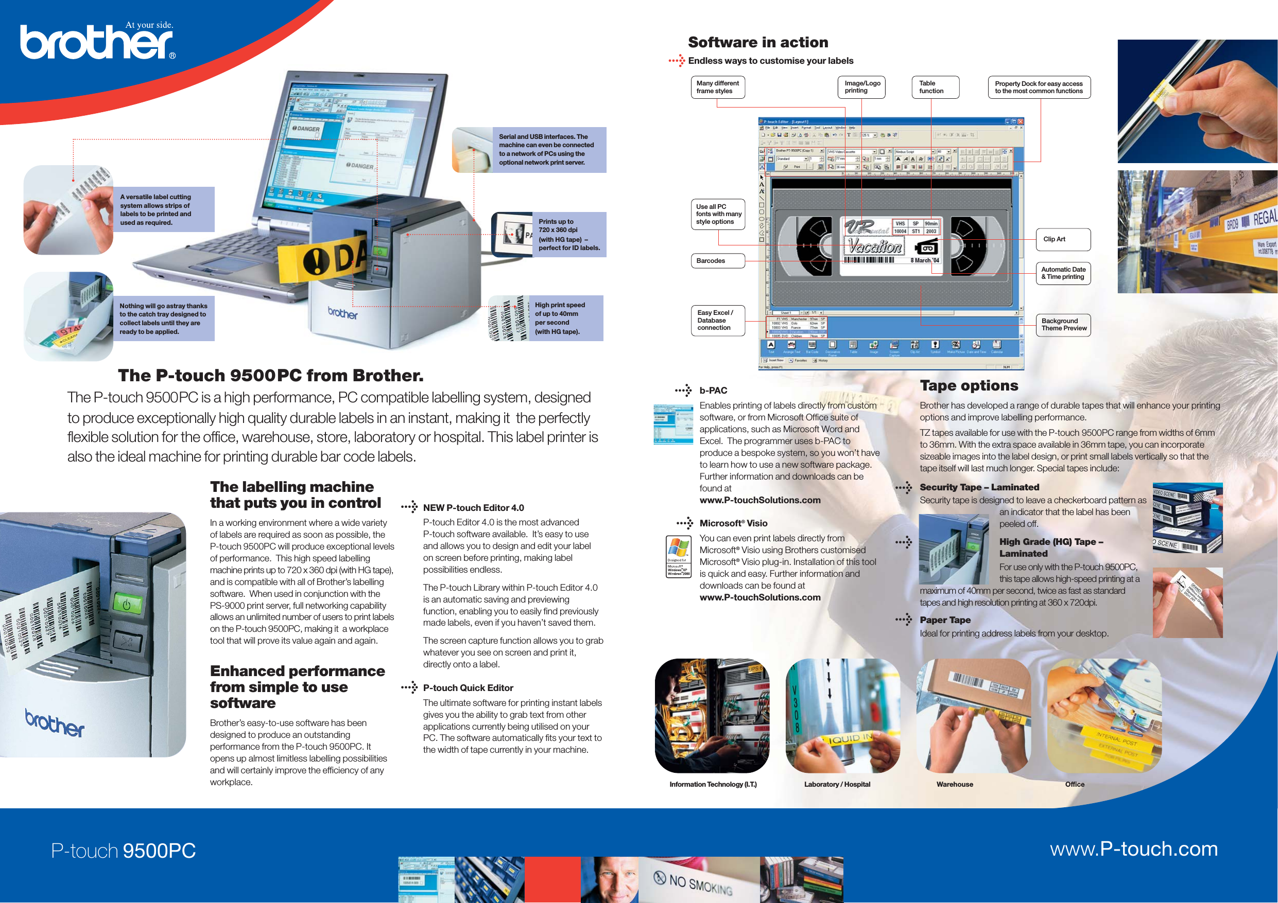 LabelZone Pt 9500 5260/Brother/PT9500/BUK User Manual