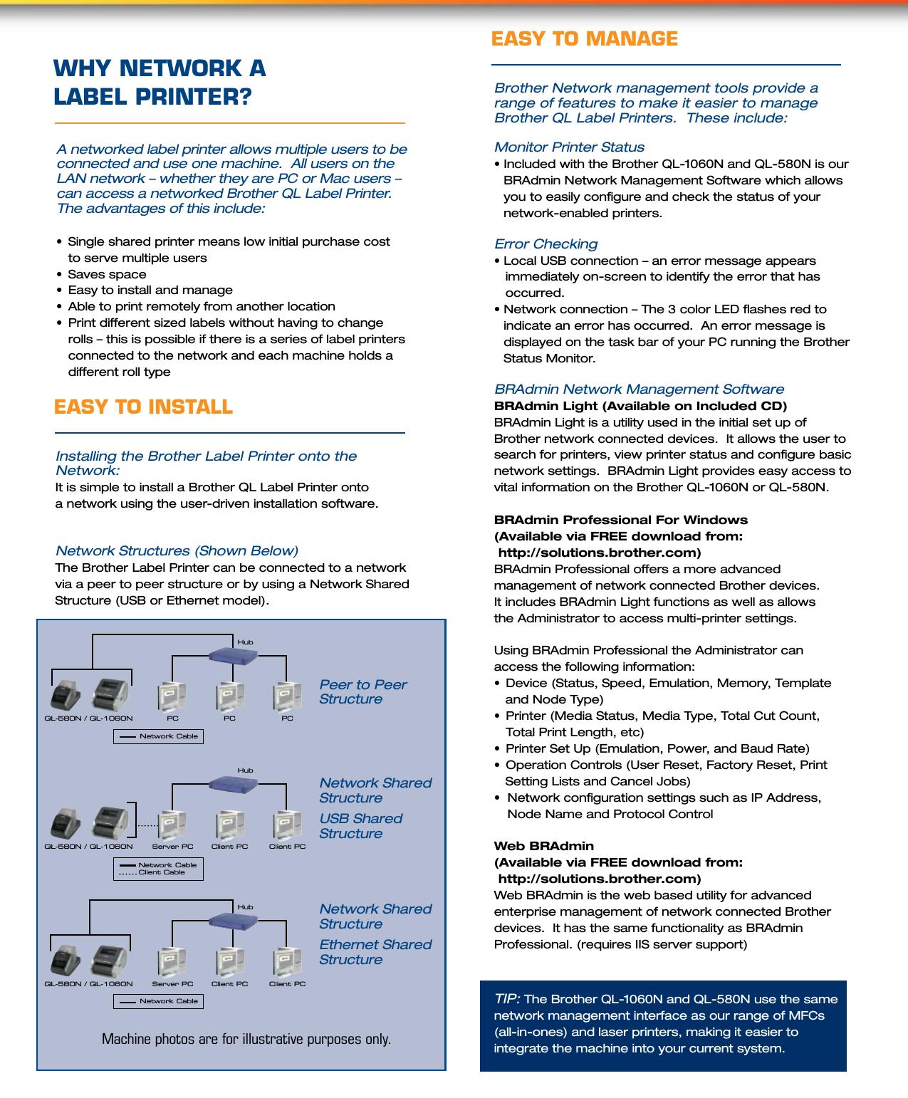 Labelzone Ql 580N Brochure User Manual