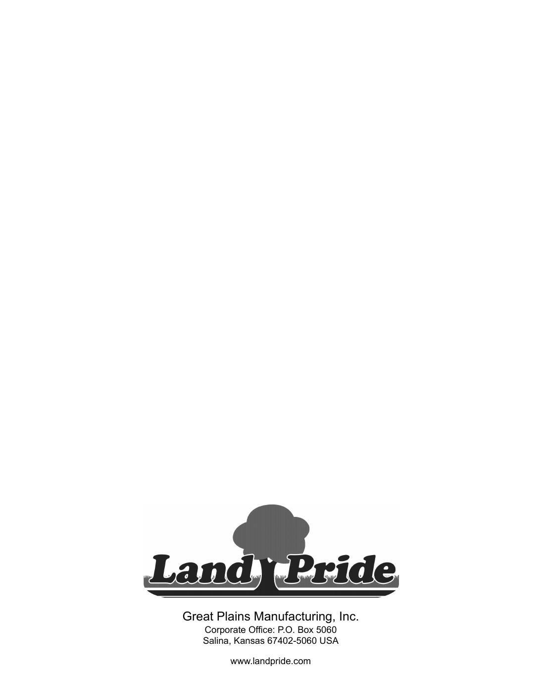 Land Pride Box Scrapers Hr35 Users Manual