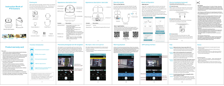 Langshixing Electronic PA201 Pan and Tilt Camera User Manual