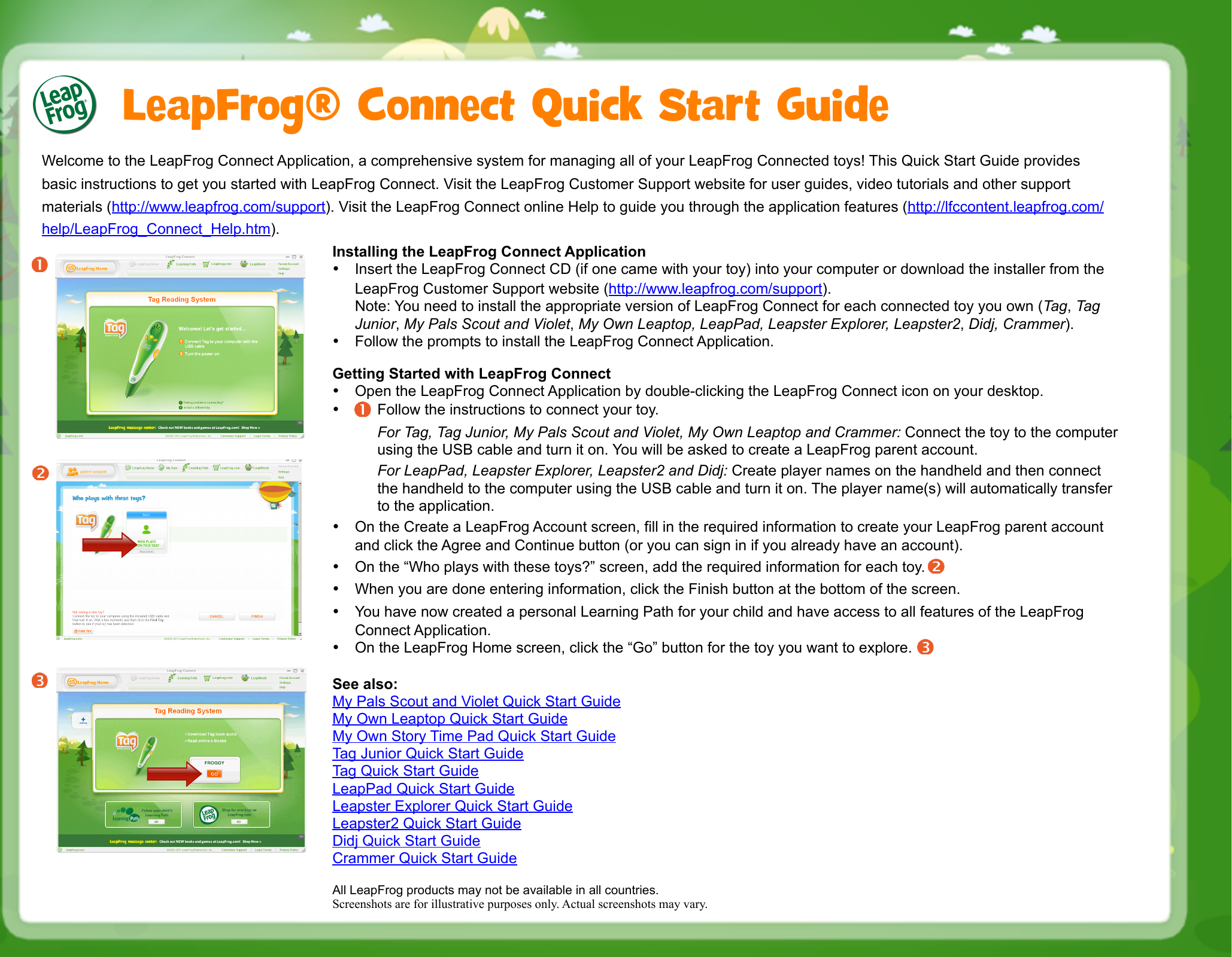 leapfrog connect application quick start manual rh usermanual wiki LeapFrog Talking Words Factory LeapFrog Logo