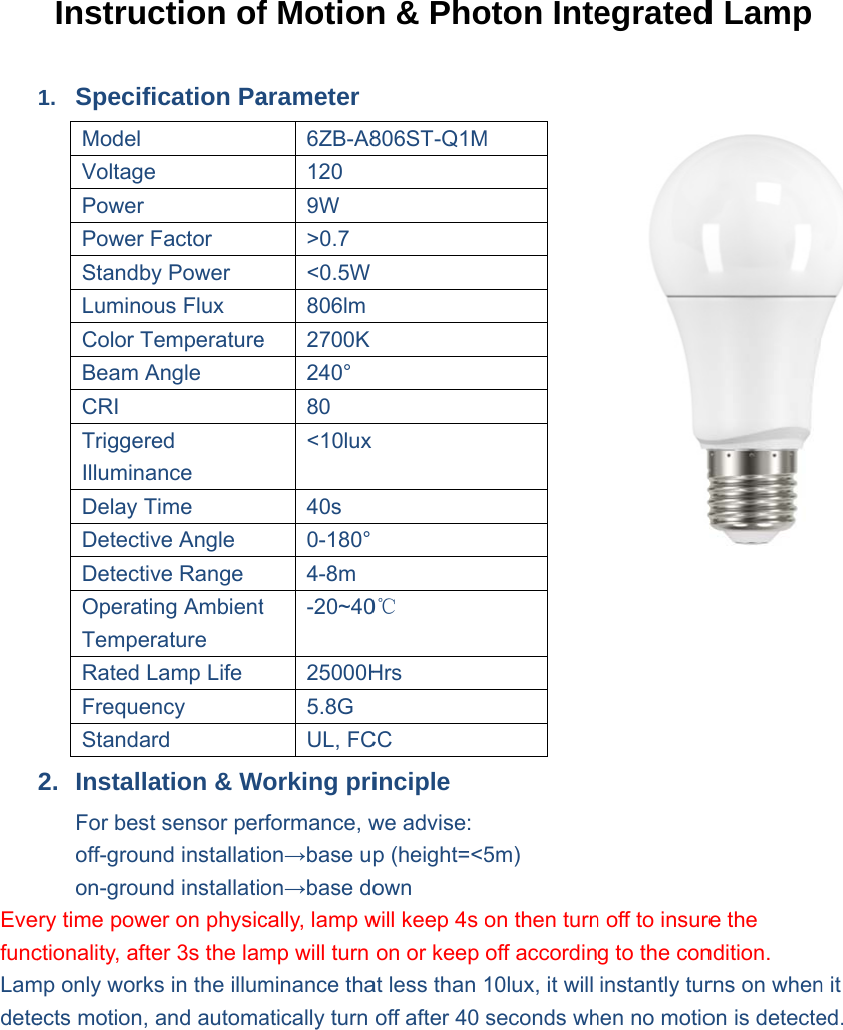 Leedarson lighting 6zy a806st q1m 58g motion photon integrated leedarson lighting 6zy a806st q1m 58g motion photon integrated led lamp user manual nvjuhfo Image collections