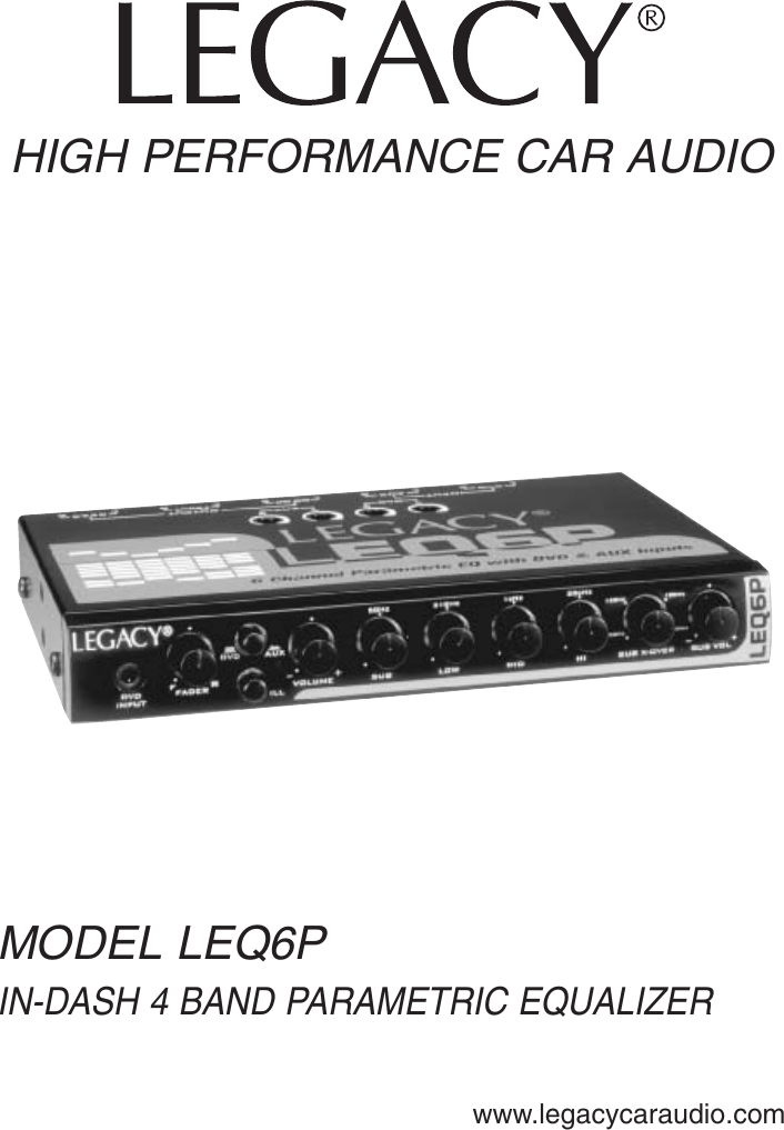 Legacy Car Audio Leq6p Users Manual