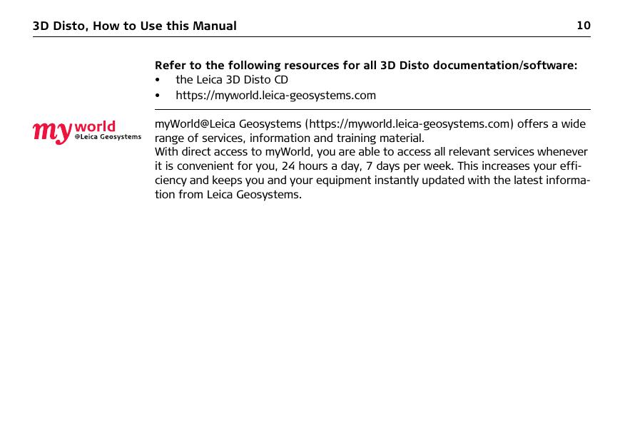 Leica Geosystems CPD 3DDISTO Leica 3D Disto User Manual 3D Disto UserMan