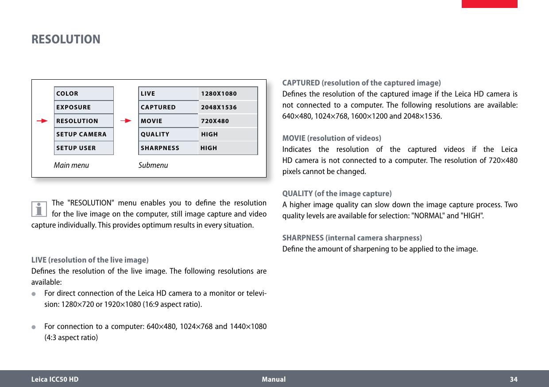 Leica Icc50 Hd Users Manual