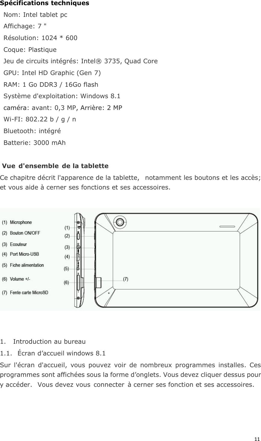 Lenoge Technology TU-W7982 Tablet PC User Manual Manual
