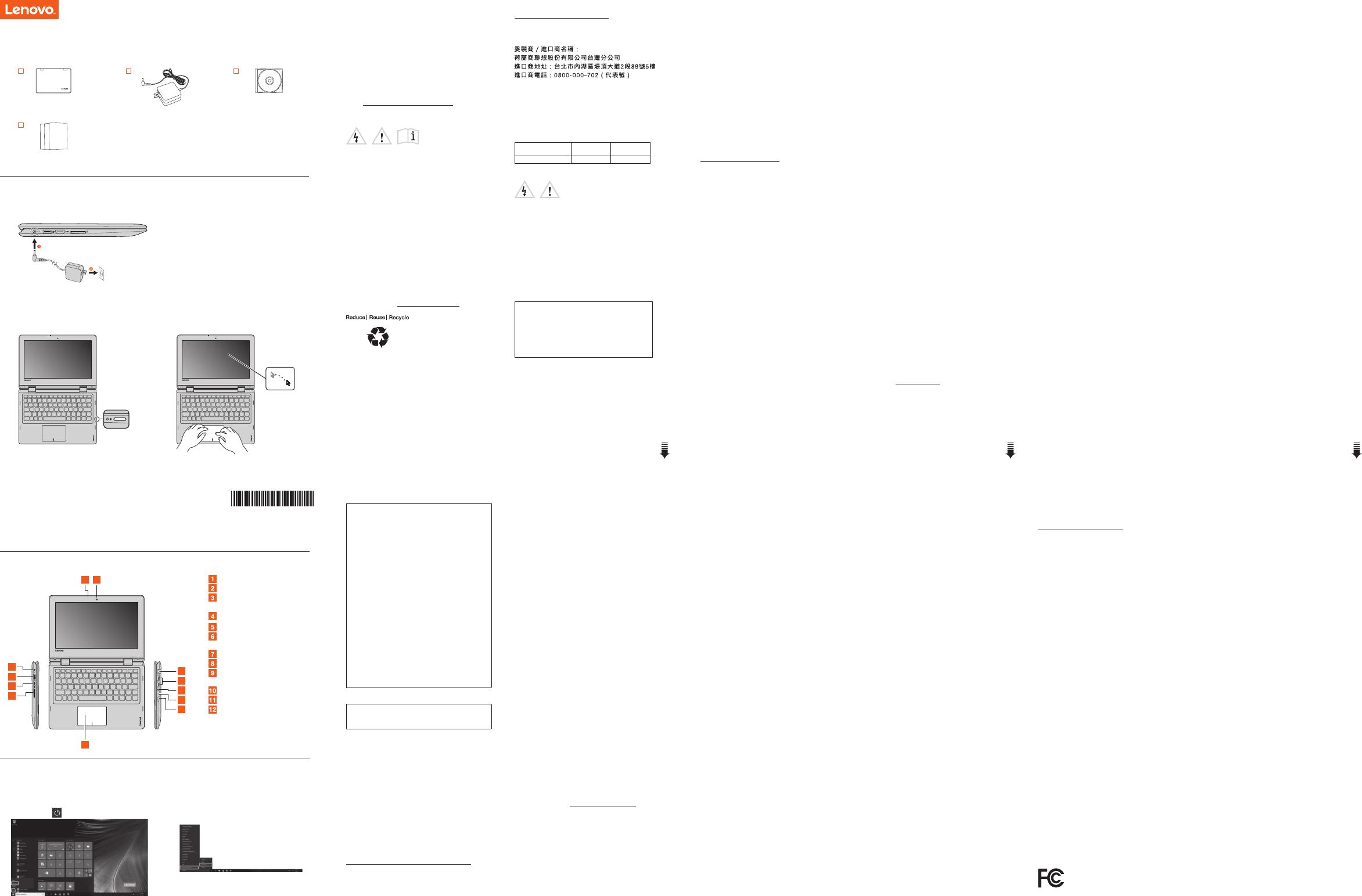 Lenovo 2in1 11 Swsg Es 201709 Ideapad 2in 1 Sp User Manual