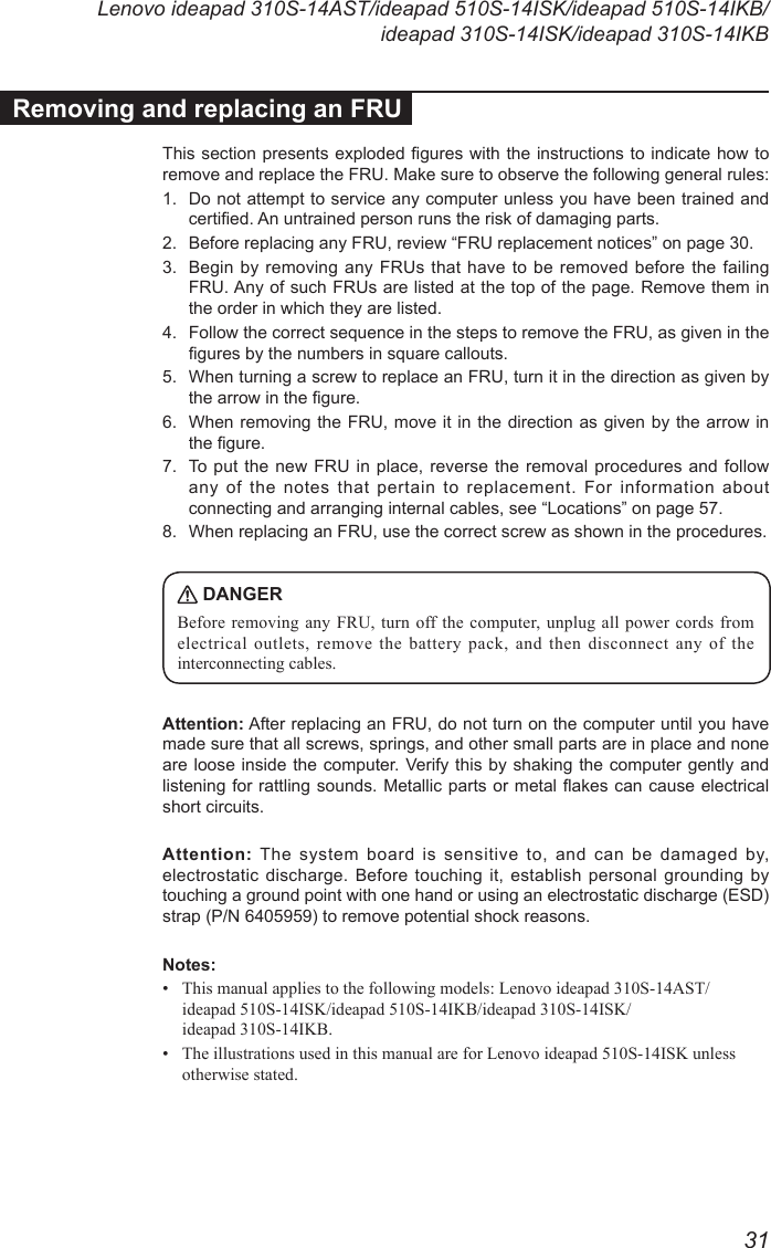 Lenovo 310S 14Ast 14Isk 14Ikb 510S Hmm 201609 Ideapad User Manual